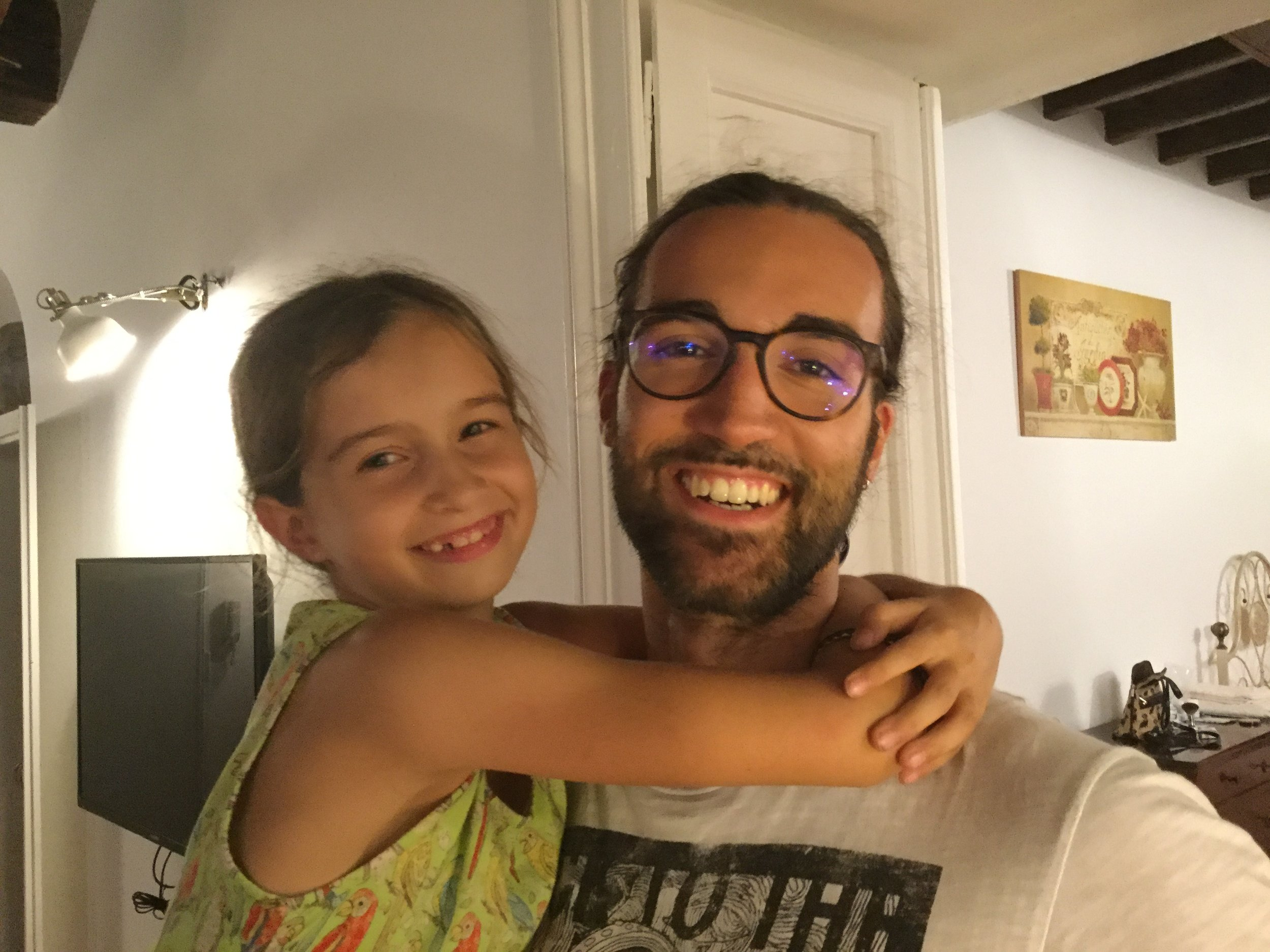 Lili and cousin Amedeo.