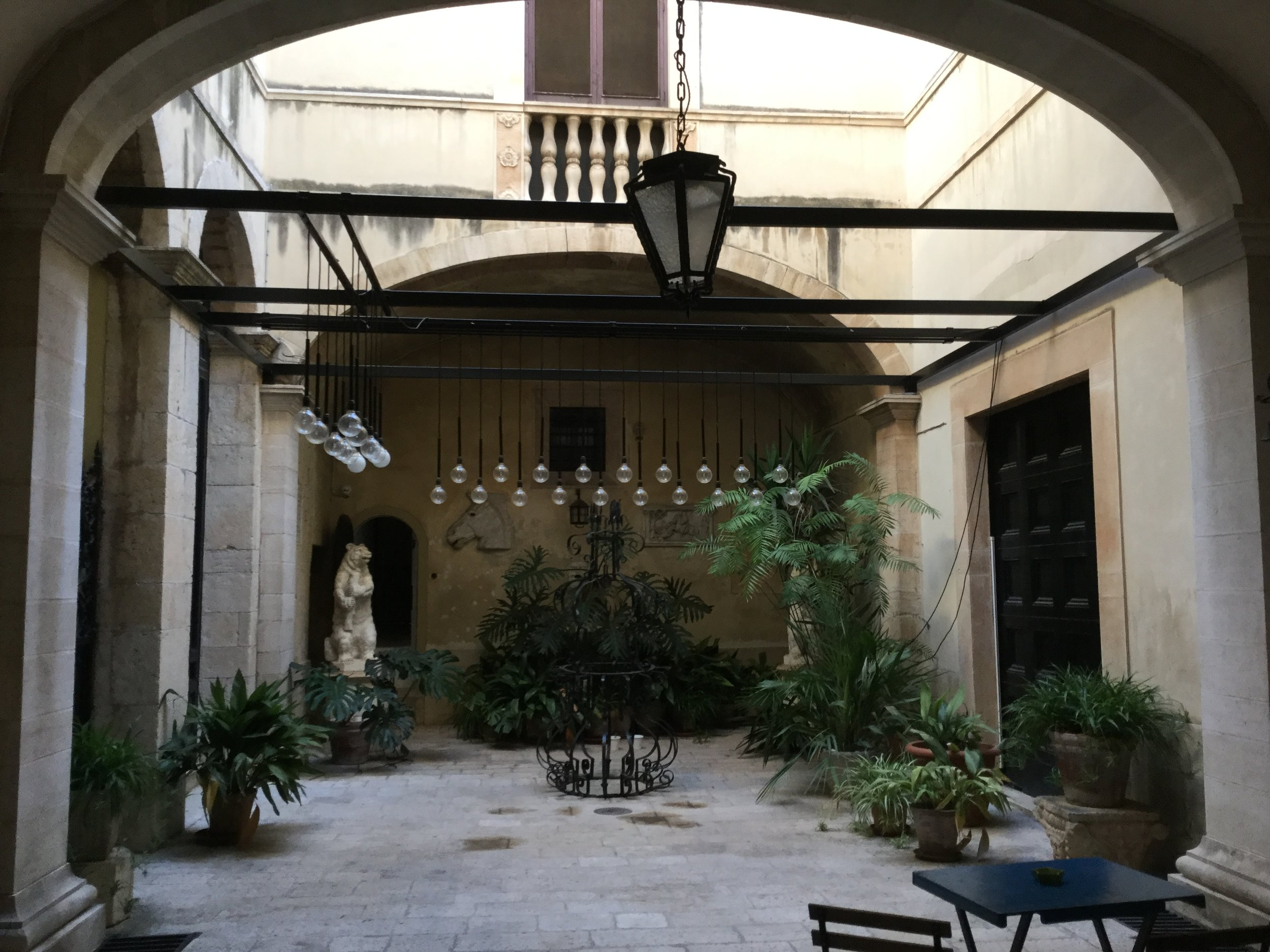 The courtyard at our building.