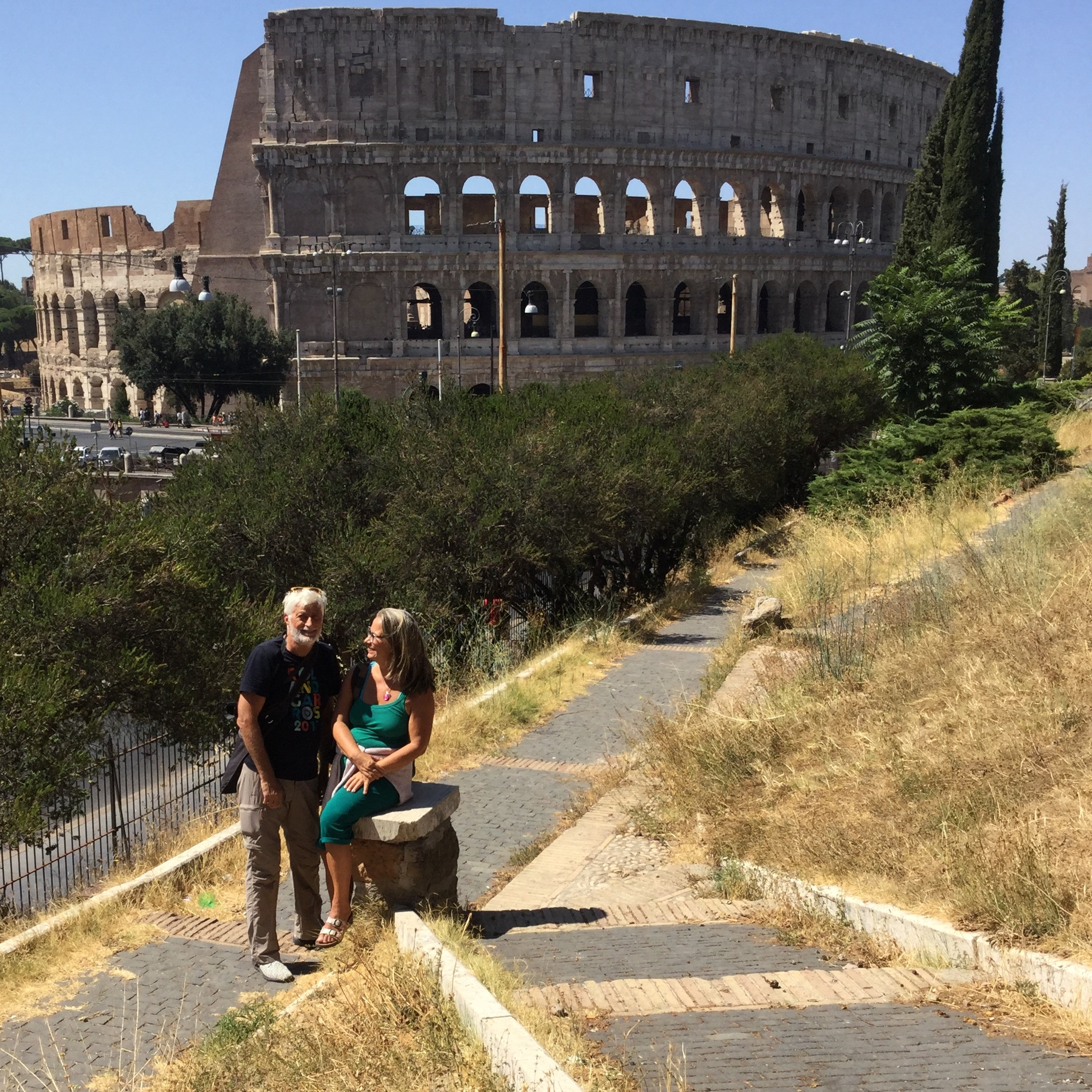 At the Colosseum. Lili took the bottom image!
