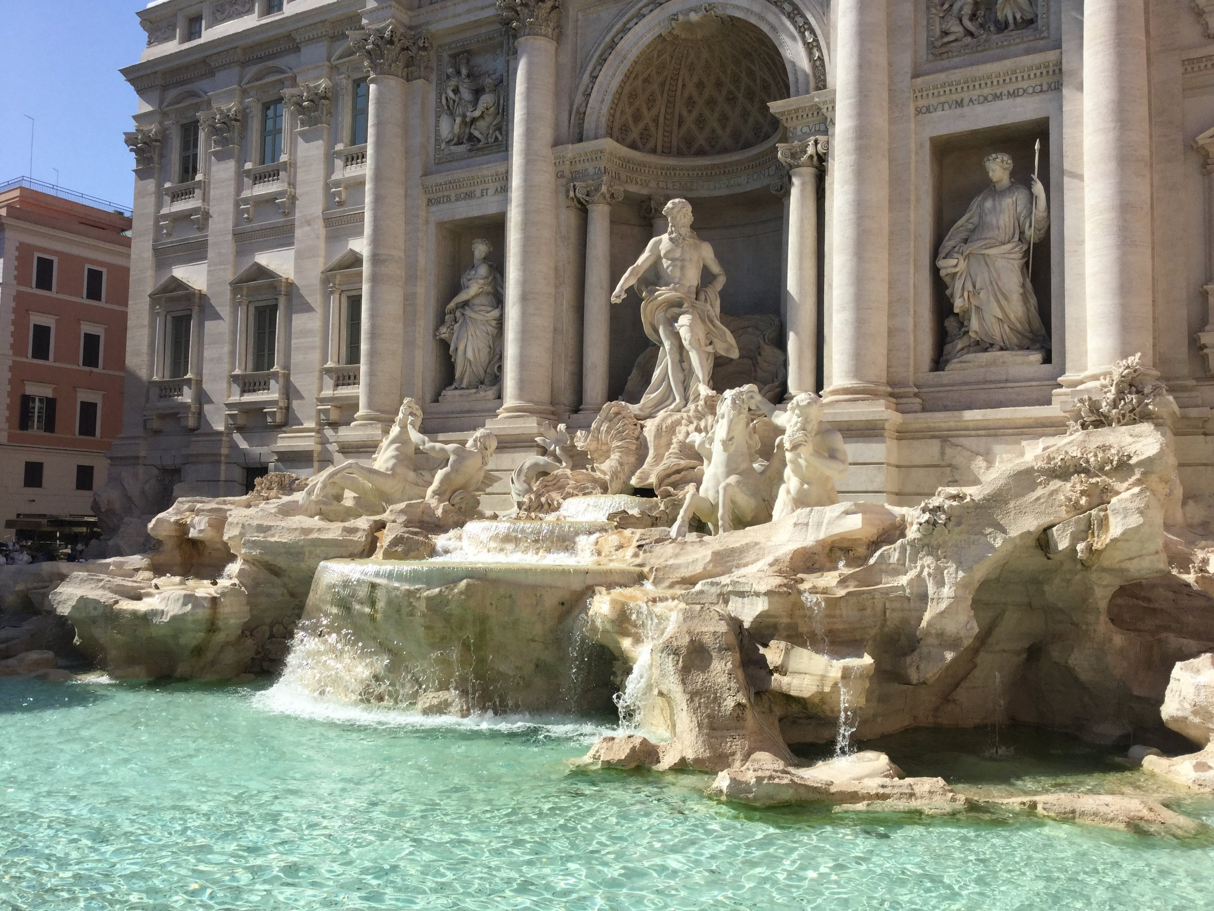 Fontana di Trevi. Couldn't see Anita Ekberg for all the crowds.