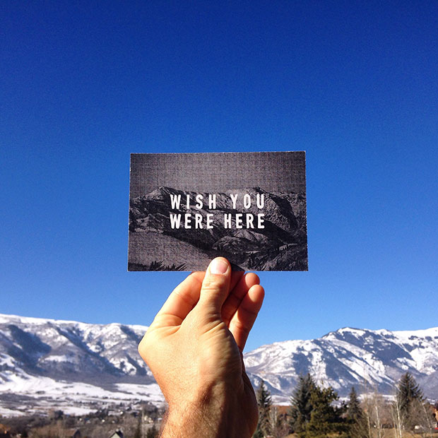 Wish you were here, past artist in residency on Powder Mountain, Erik Abel