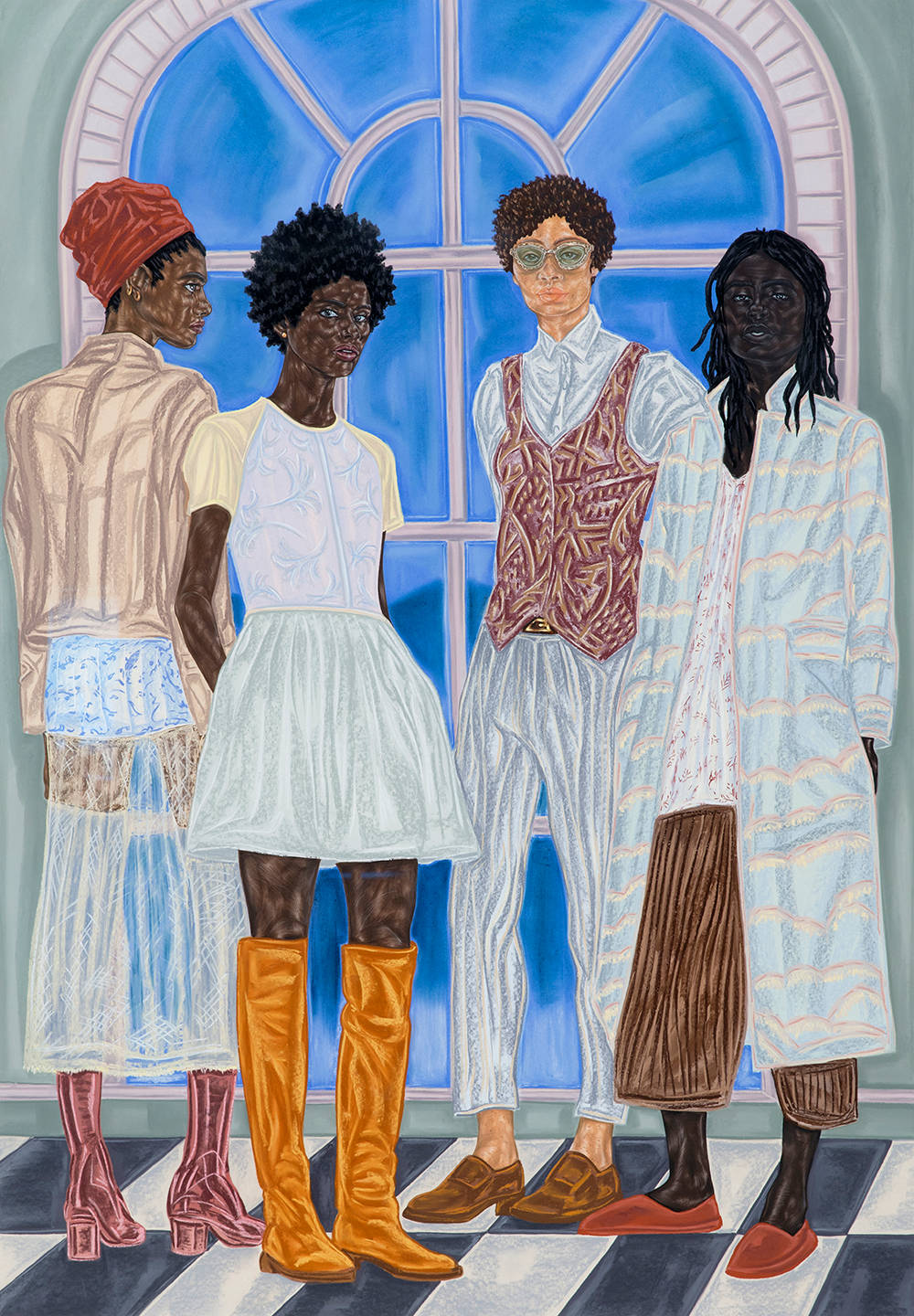 Toyin Ojih Odutola (b. 1985), Representatives of State, 2016-17