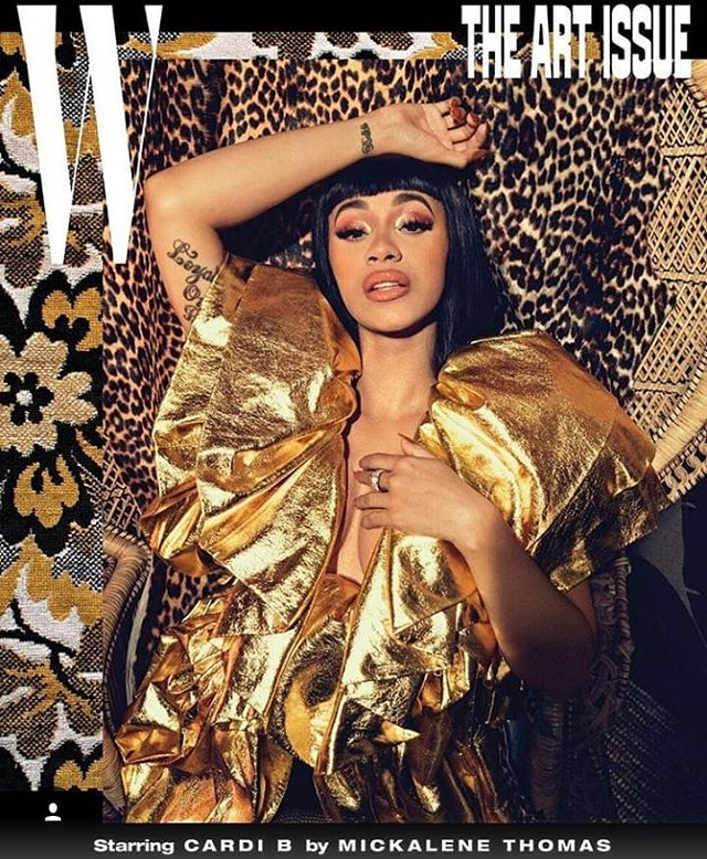 @iamcardib 📸 by @mickalenethomas for @wmag! #ARTNOIR