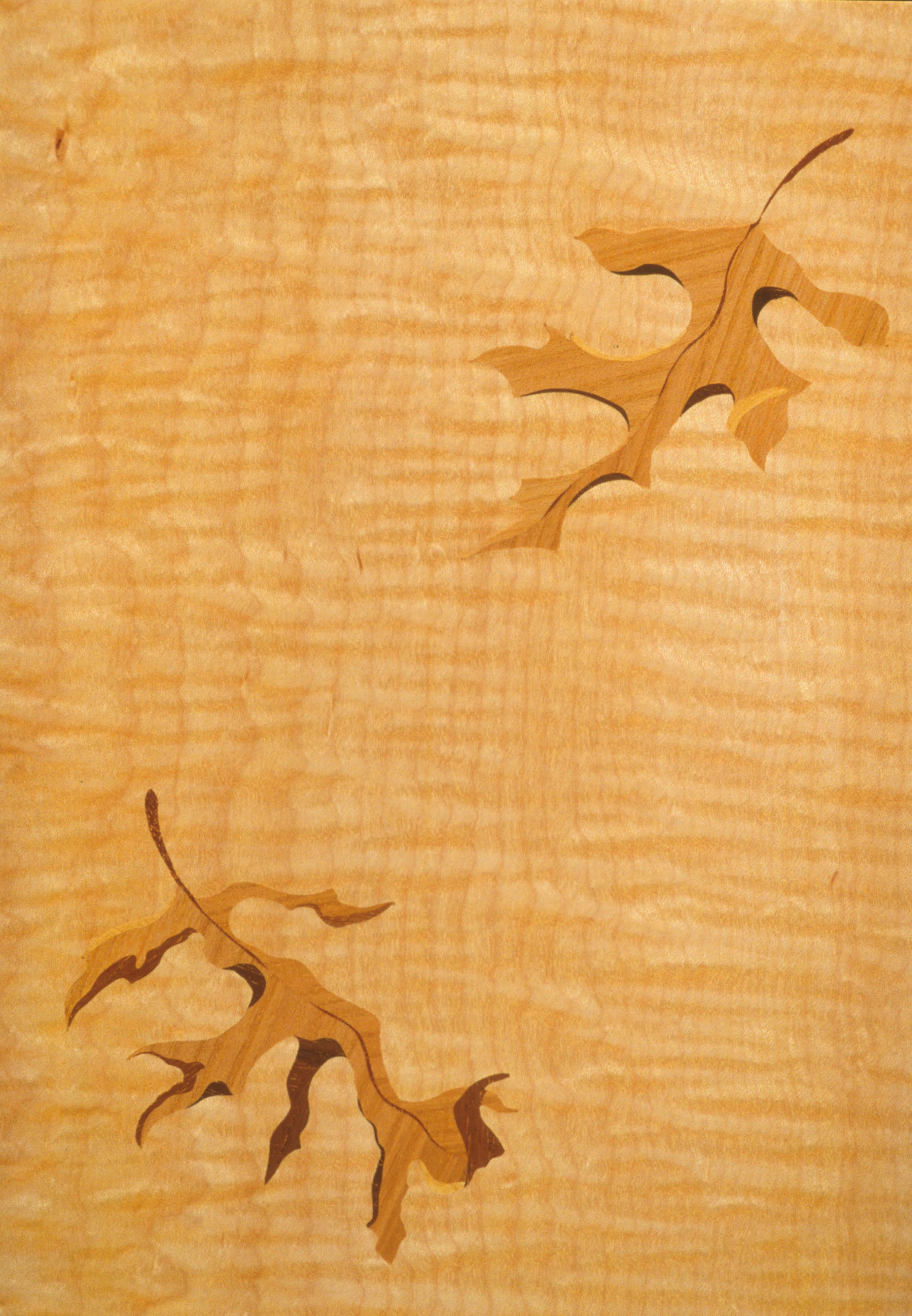 Autumn Leaf Entry Table marquetry detail