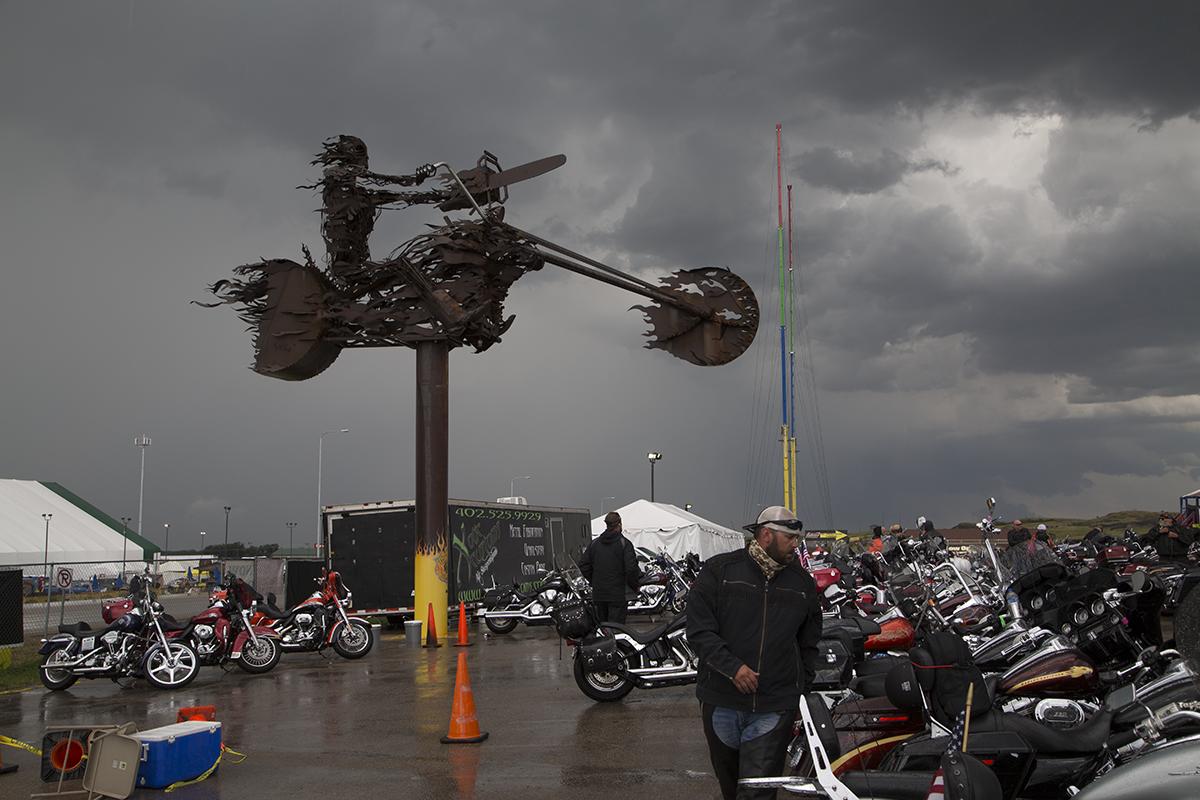 Full Throttle, just before it burned, Sturgis, MT 2015