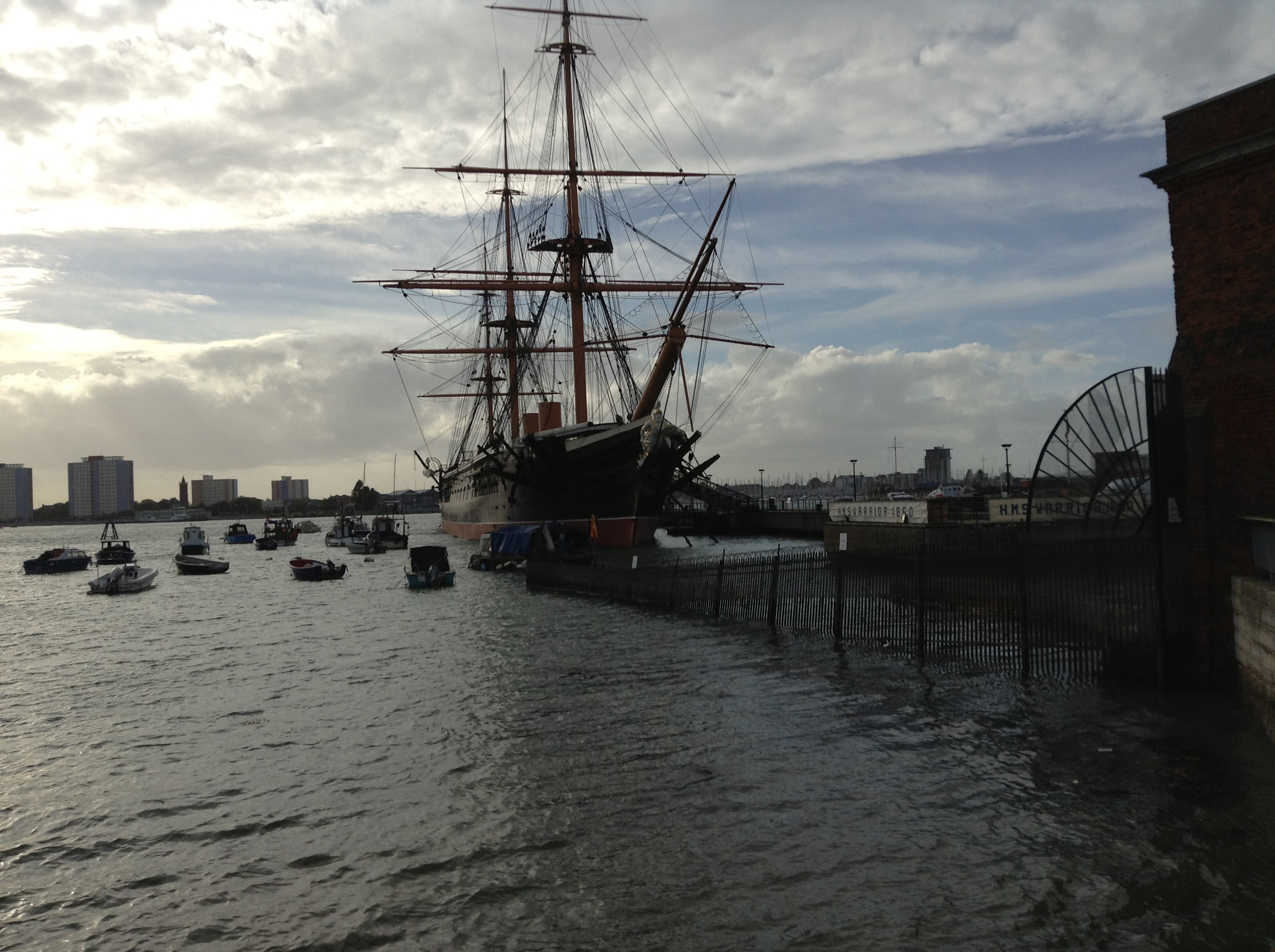 Portsmouth Historic Dockyard and HMS Warrior (1860 warship)