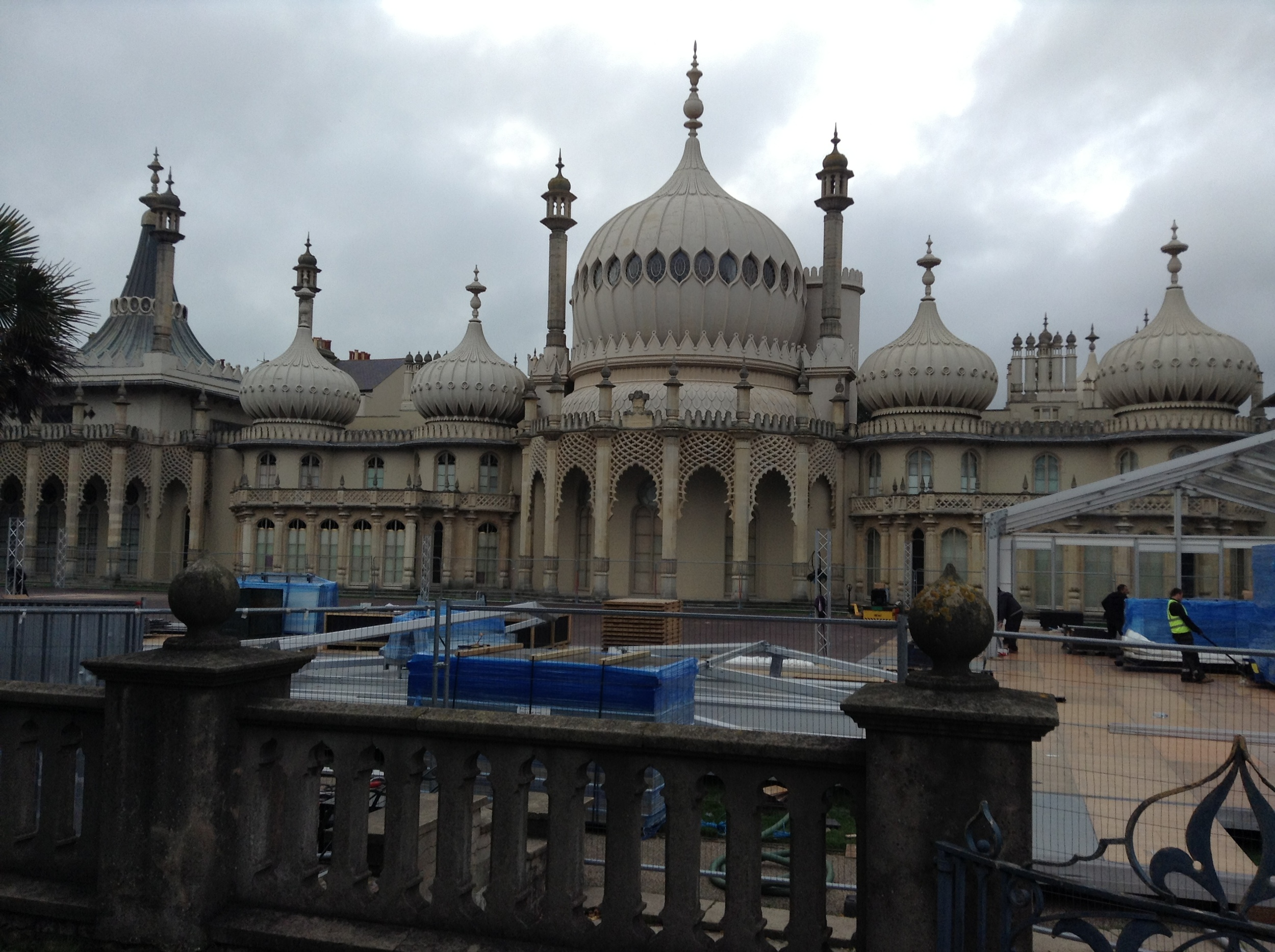 The Royal Pavilion (presently undergoing a facelift)