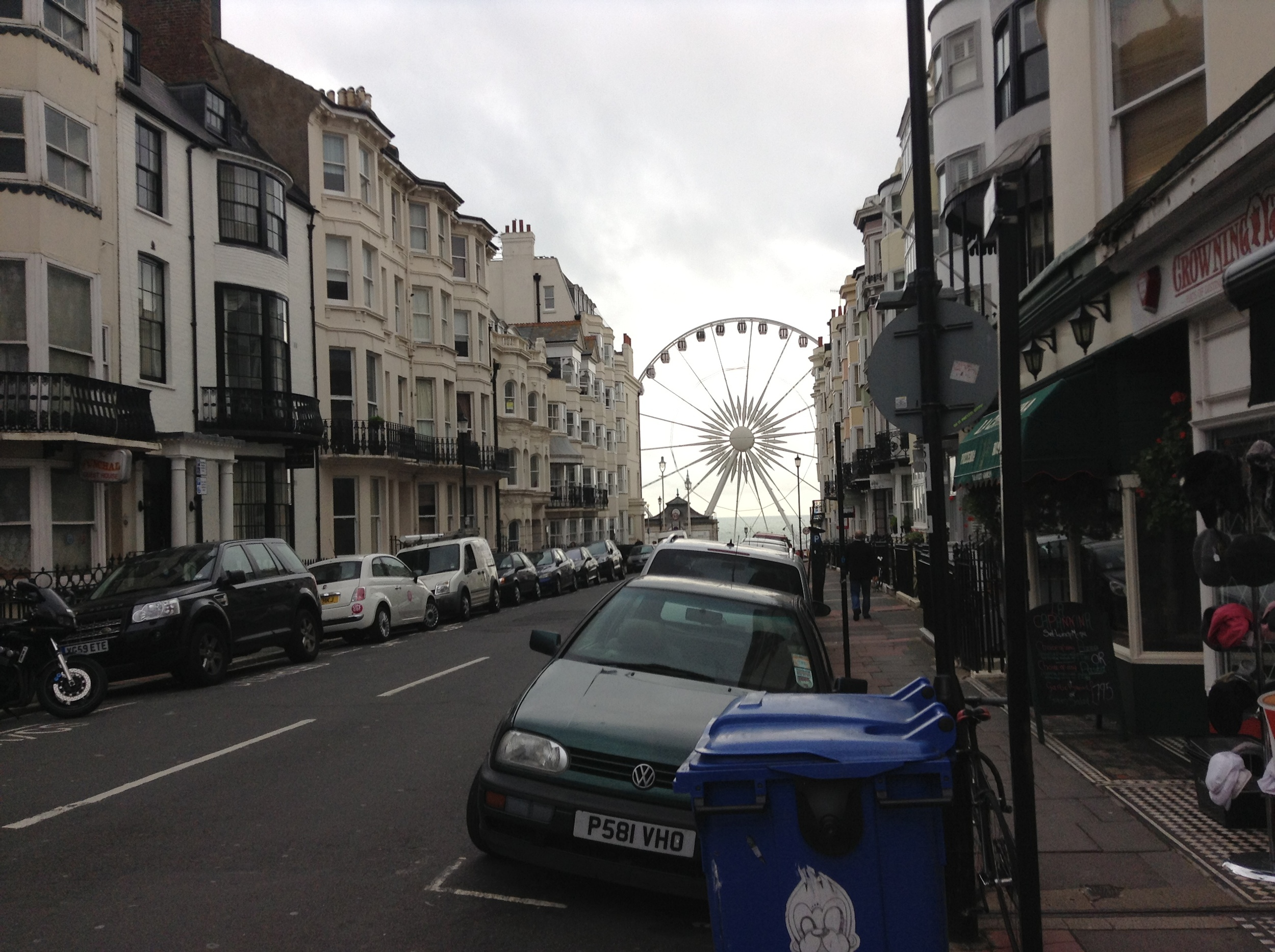 Near Legends Hotel, with Brighton Wheel in the backgrond