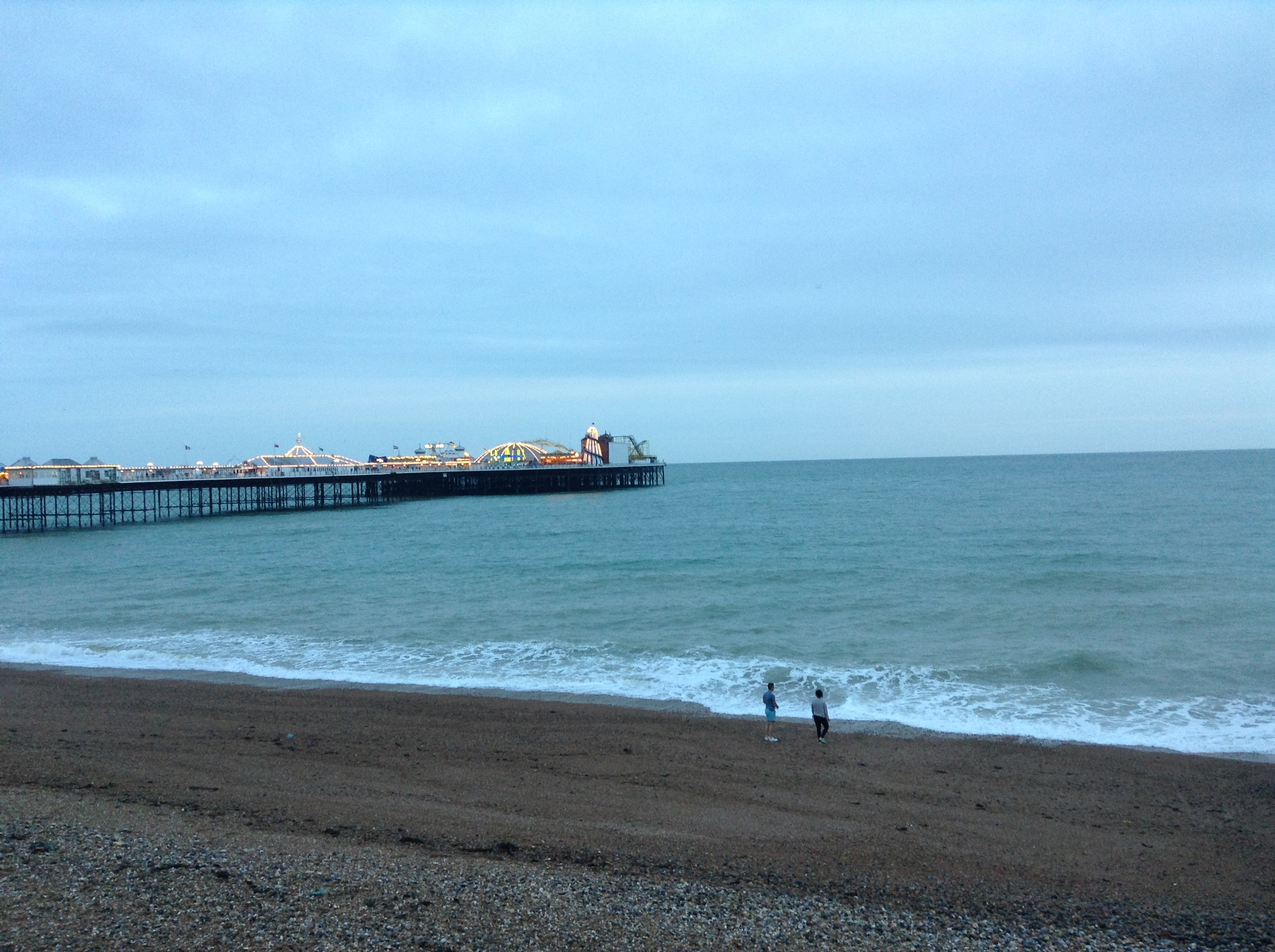 Brighton Beach with Brighton Pier in background