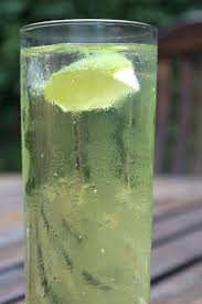 Lime and soda, tall.