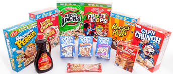 A typical selection of American foods in the UK