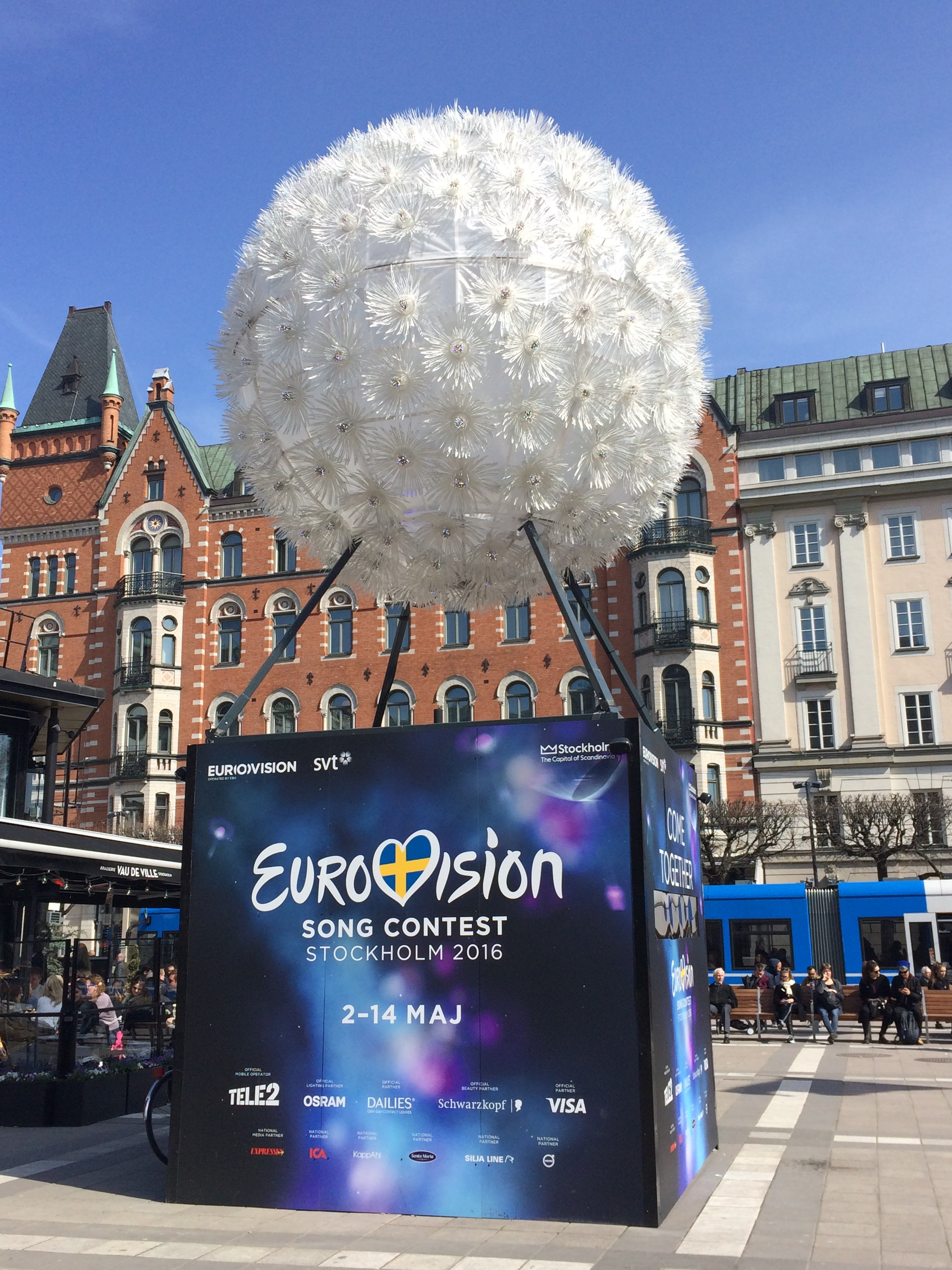 Eurovision advertising in the city