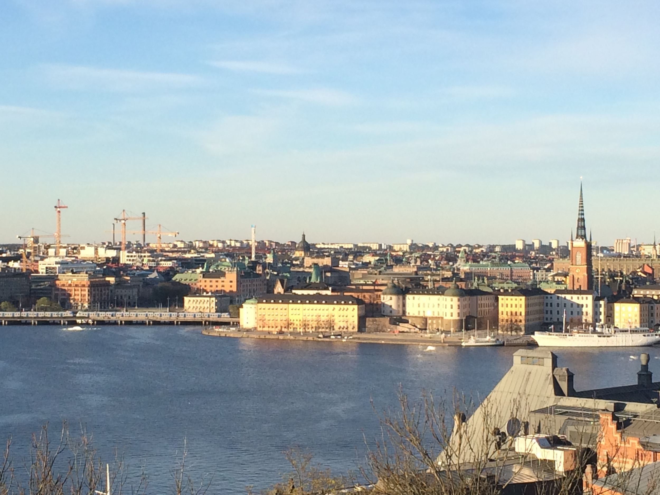 View of the city from Skinnarviksberget in Sodermalm