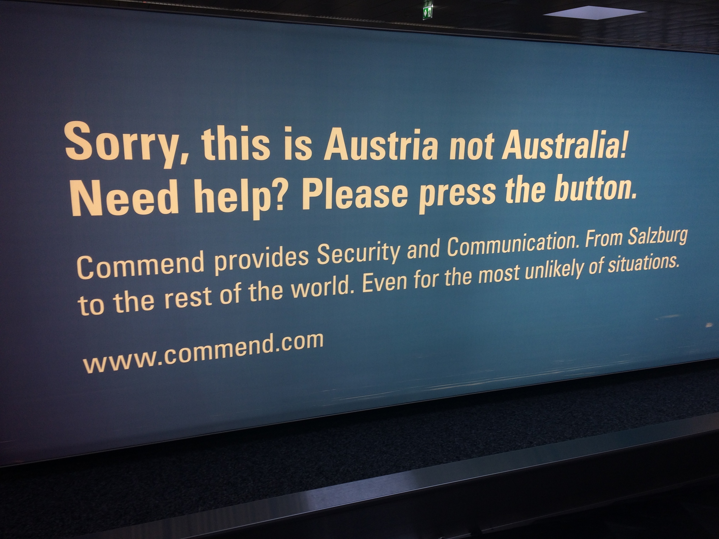 Greeting at the Salzburg airport
