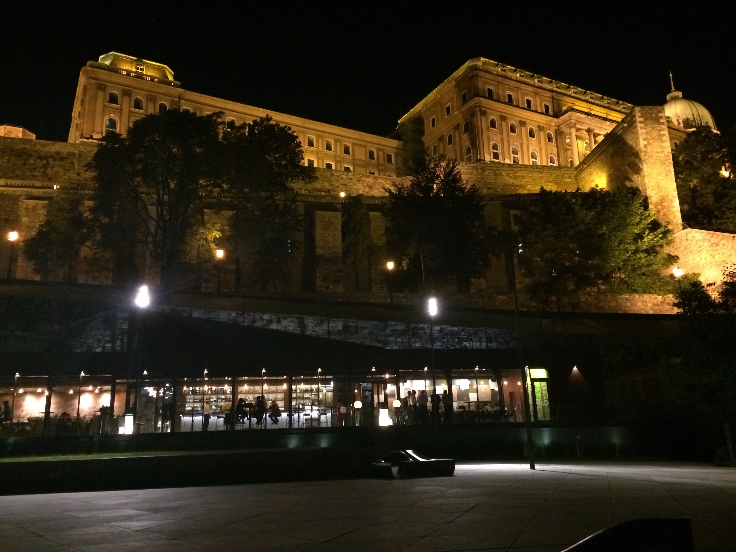 Grab a drink under Buda Castle