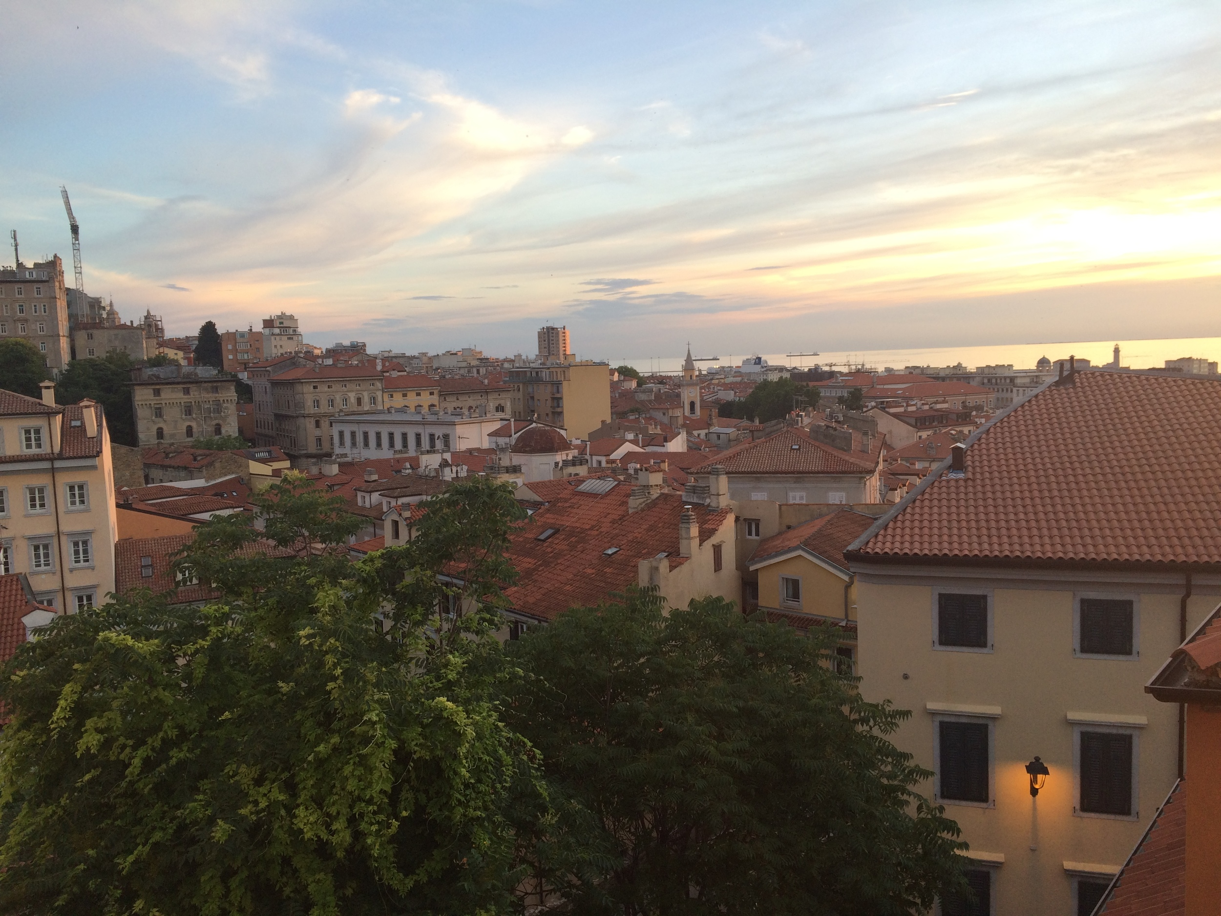 View from our bedroom in Trieste, Italy