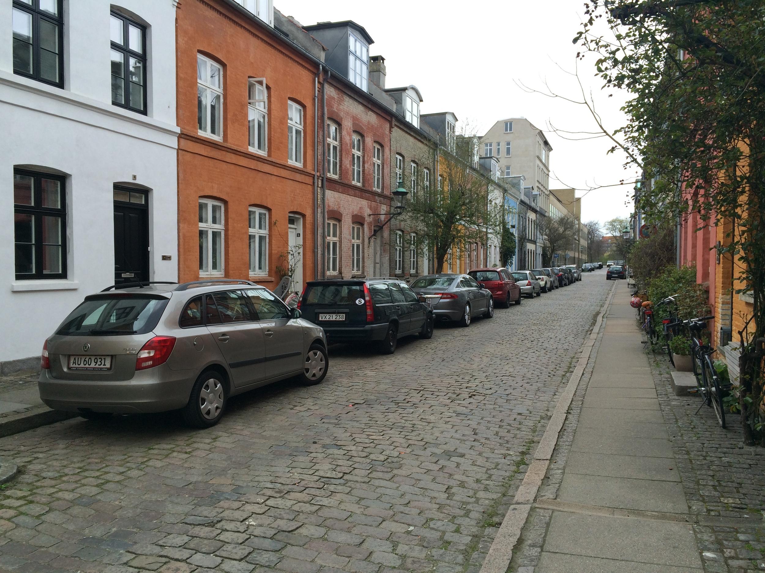 Copenhagen city residential street