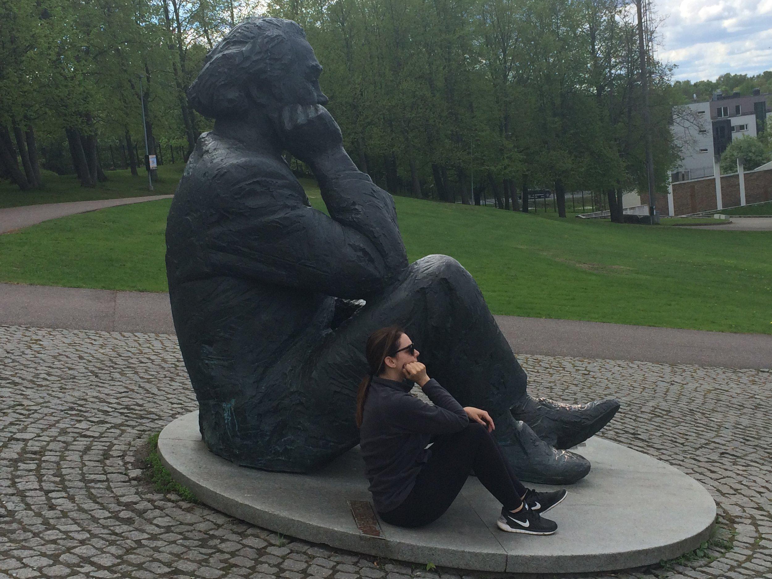 Just me and Gustav Ernesaks (Singing Revolution influencer), hangin'