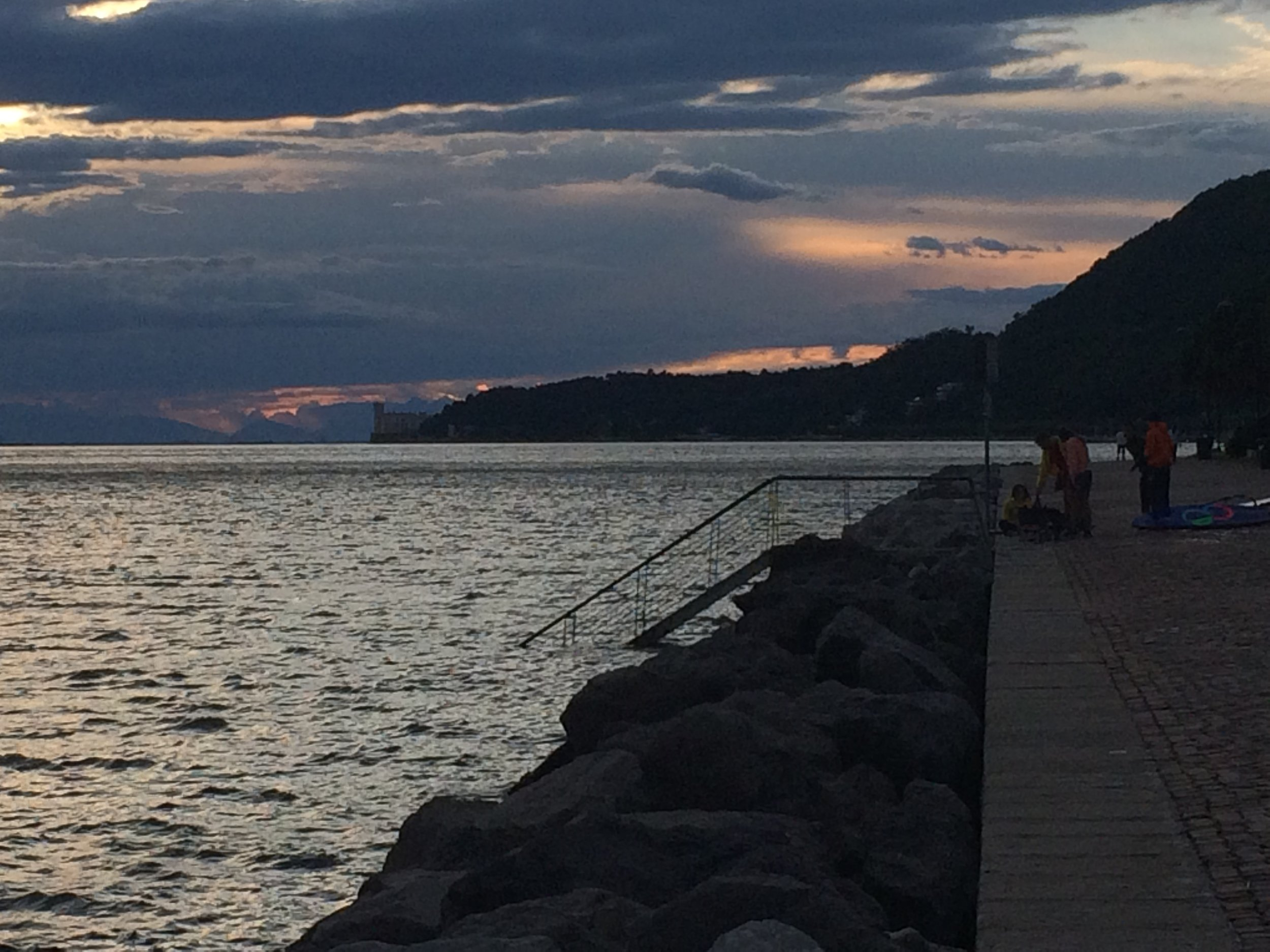 Sunset at Promenade of Barcola