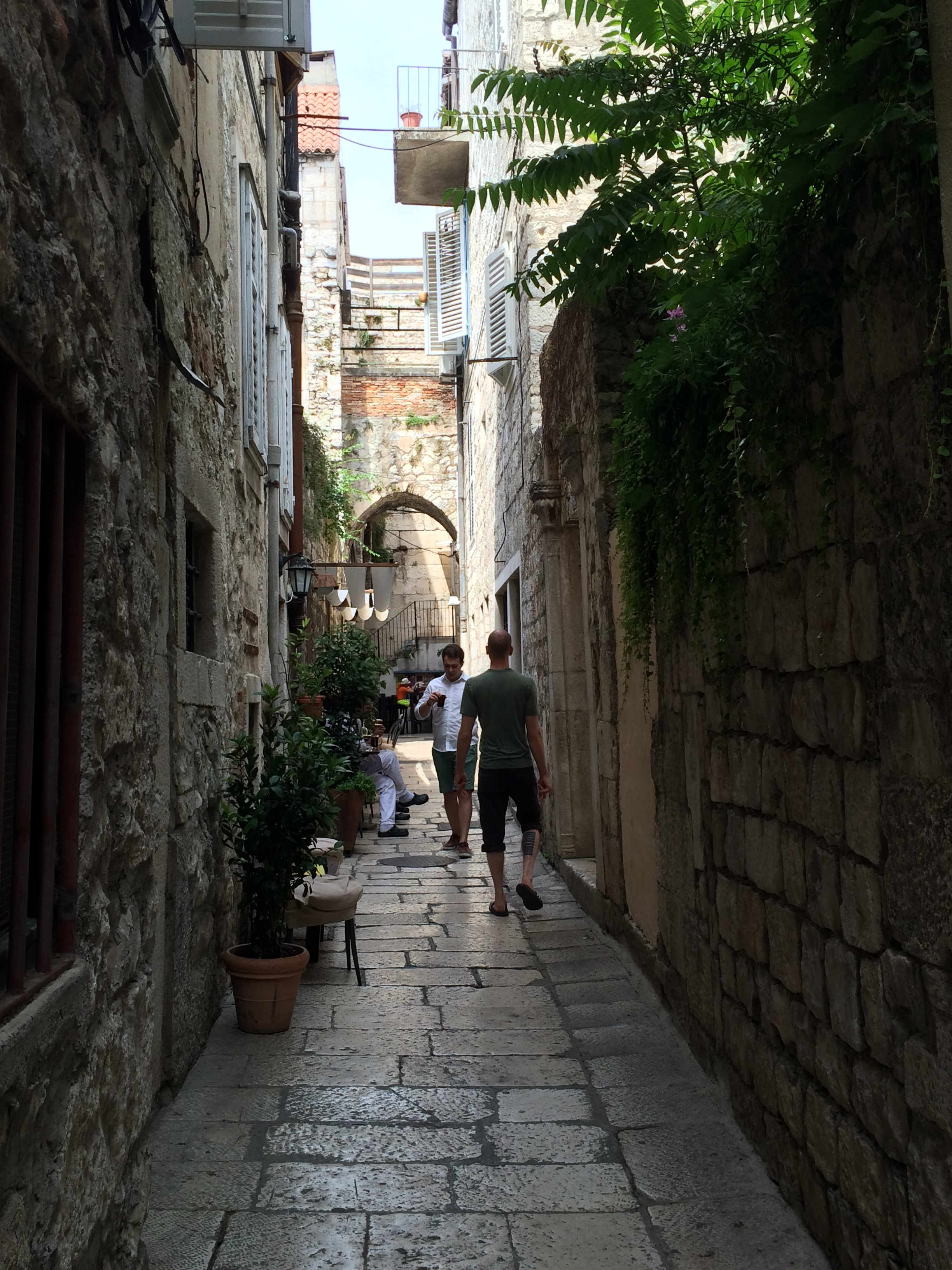 Typical alley in Split Old Town