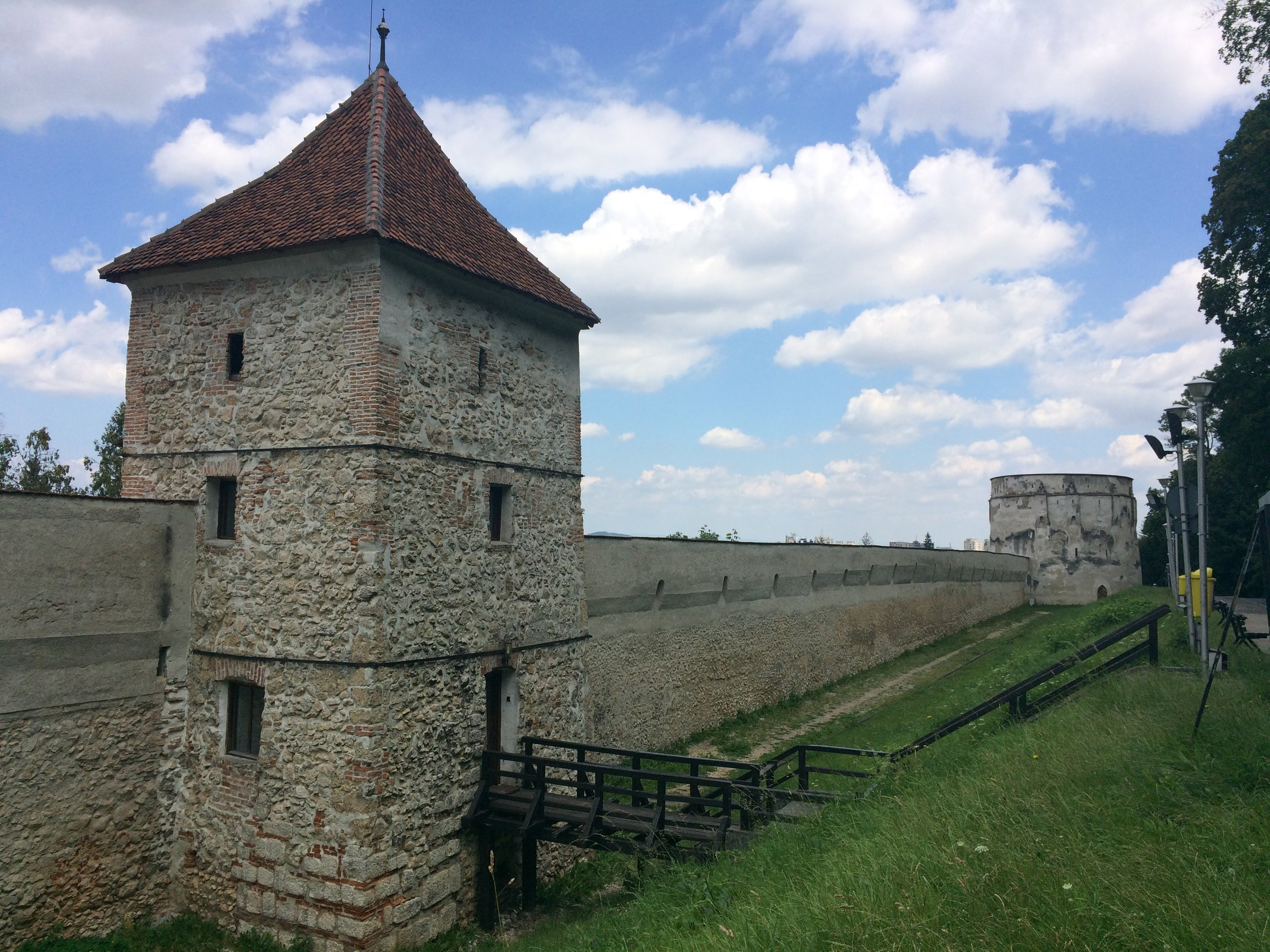 Remains of Brasov fortress walls