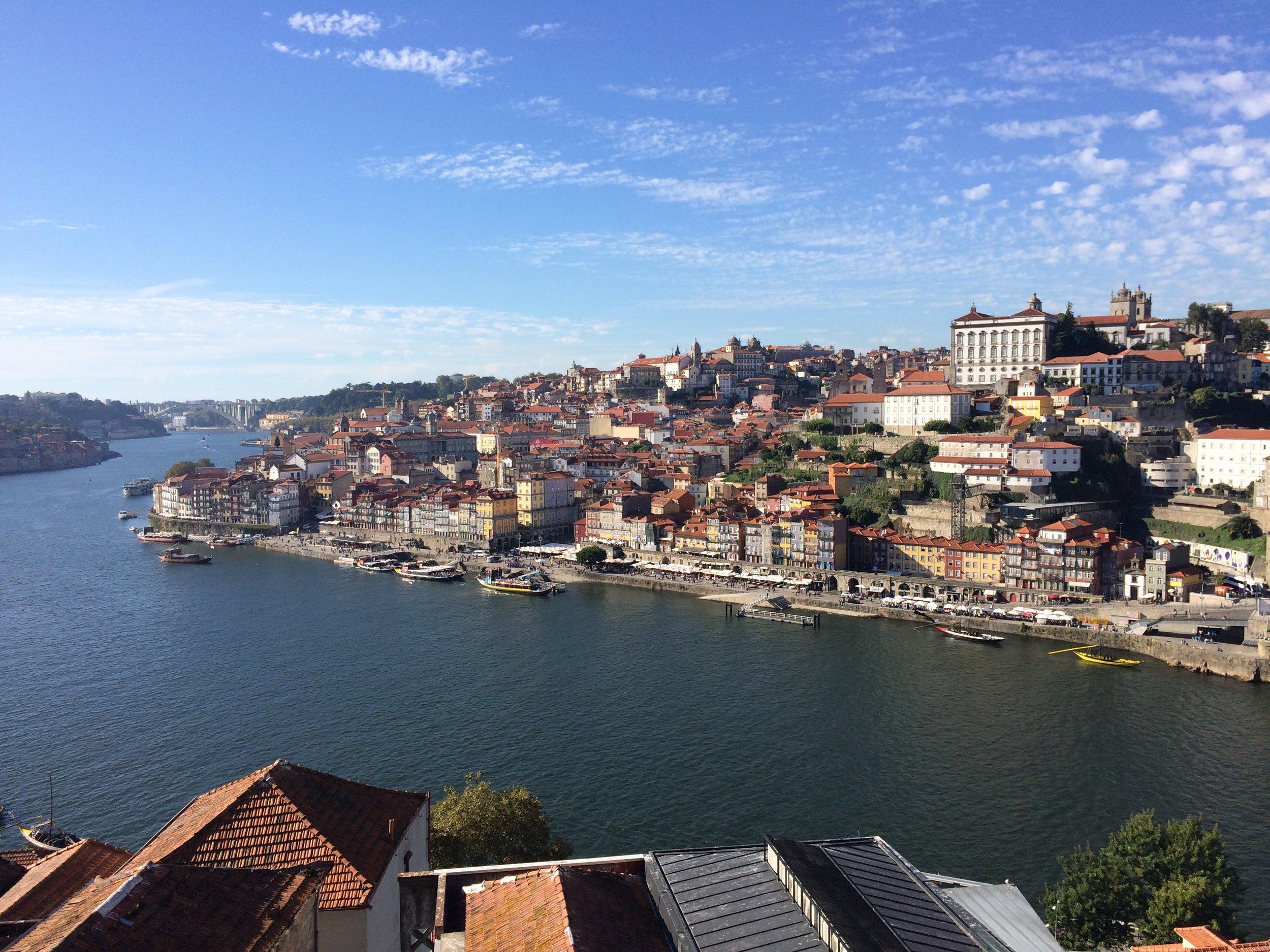 Porto's Ribeira (old city) on the River Douro