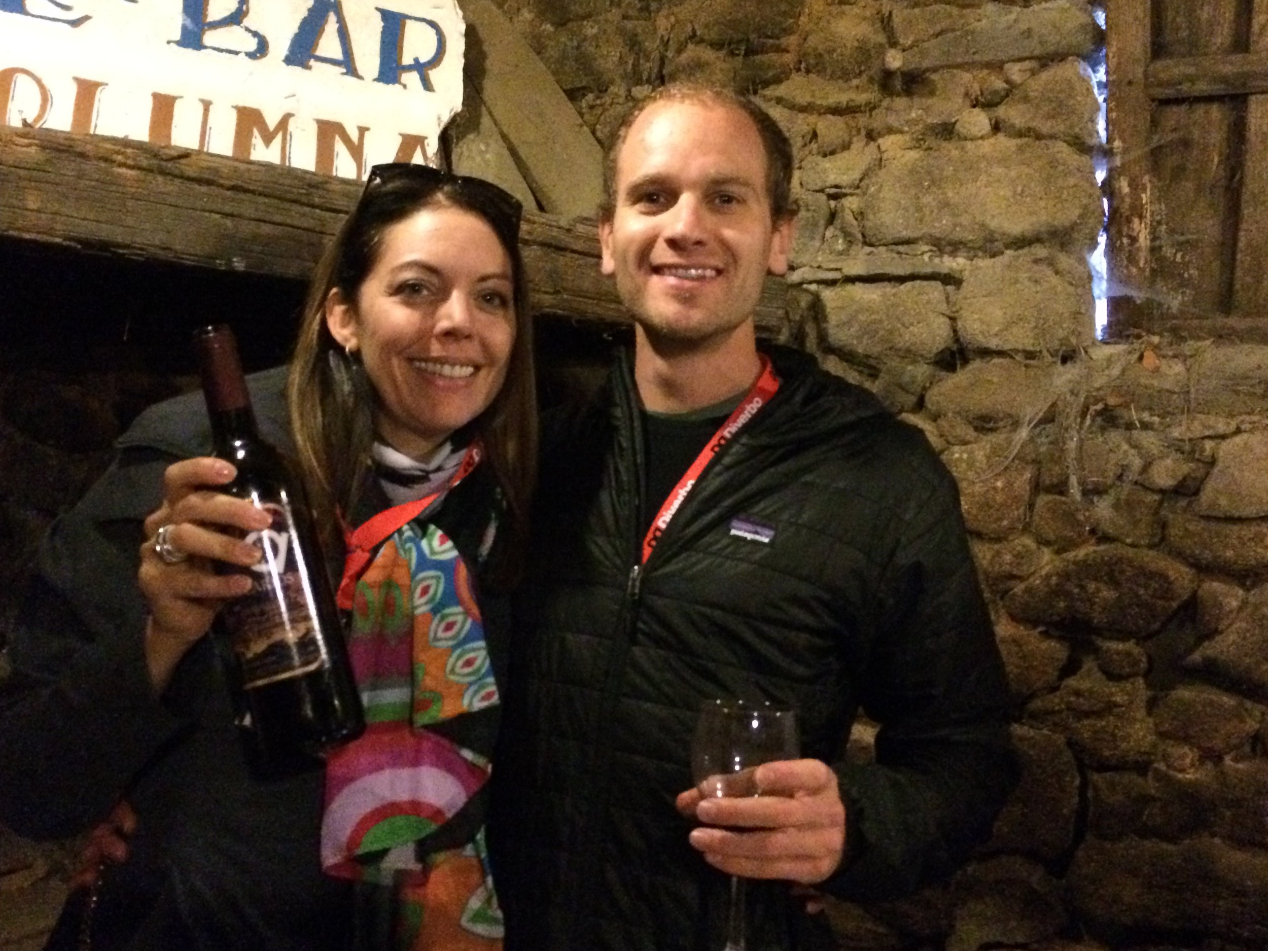 The ultimate conversation starter... P&P at a wine tasting in La Alberca