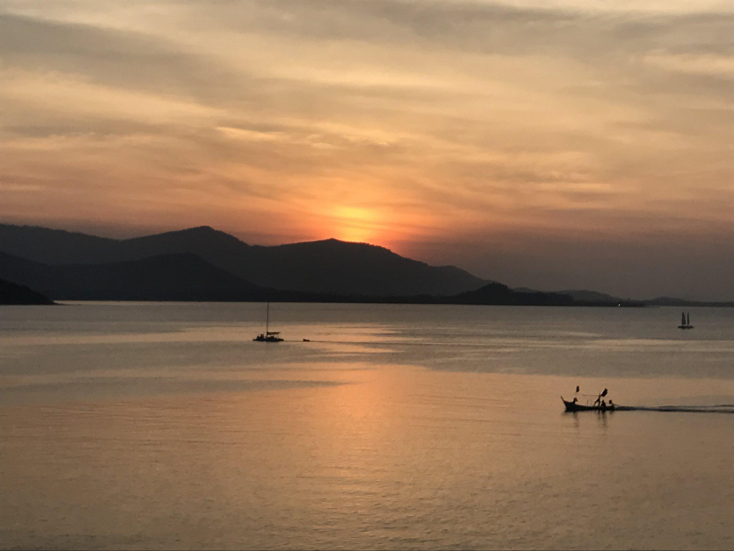Sunset view from Big Buddha, Koh Samui.