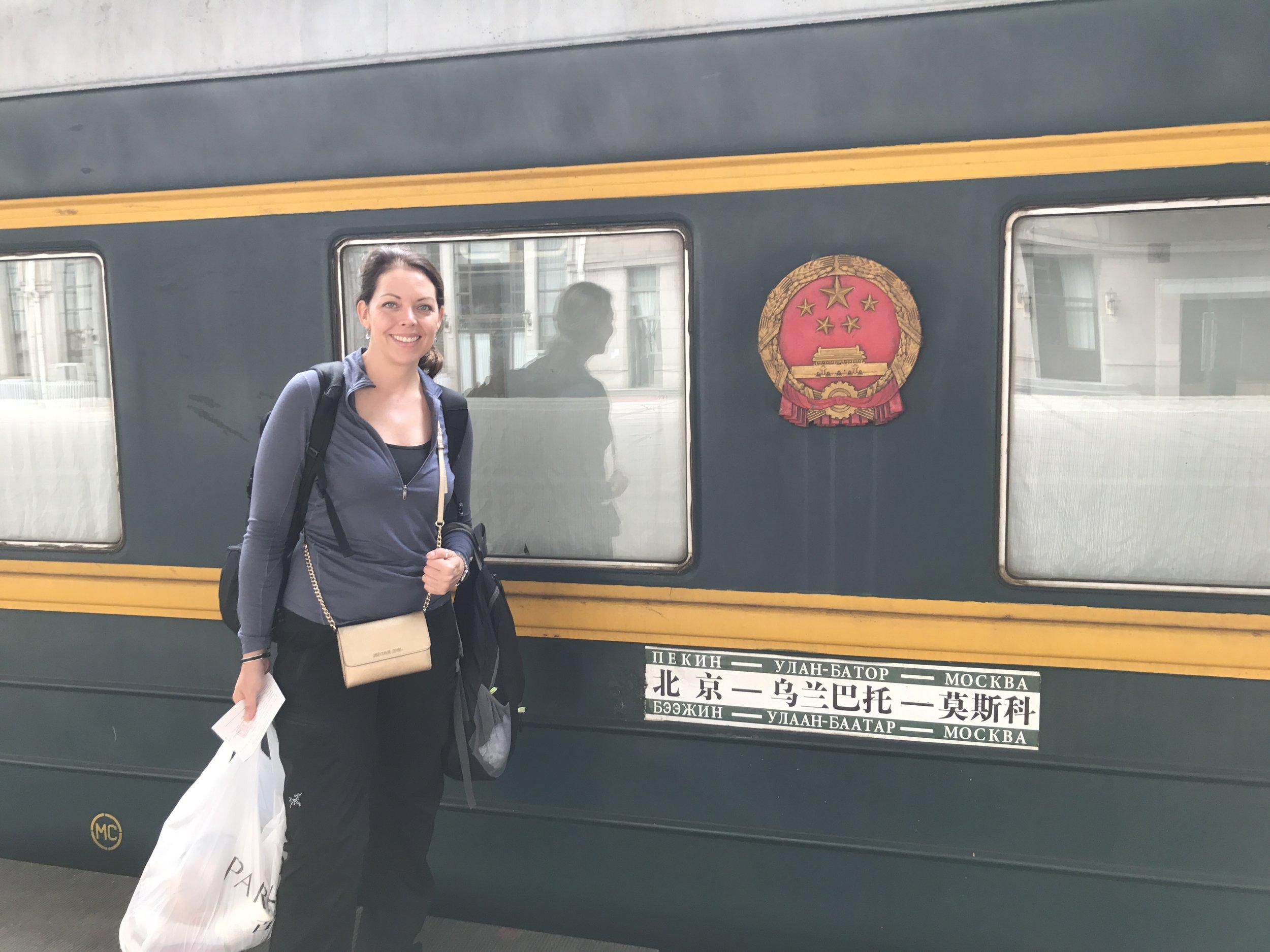 The sign reads Beijing - Ulaanbaatar - Moscow