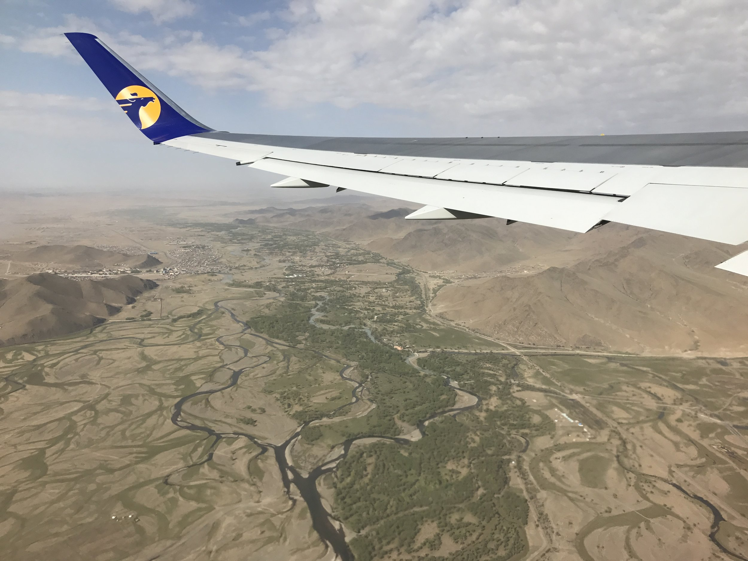 View out my window during our MIAT flight from Ulaan-baatar, Mongolia to Seoul, South Korea