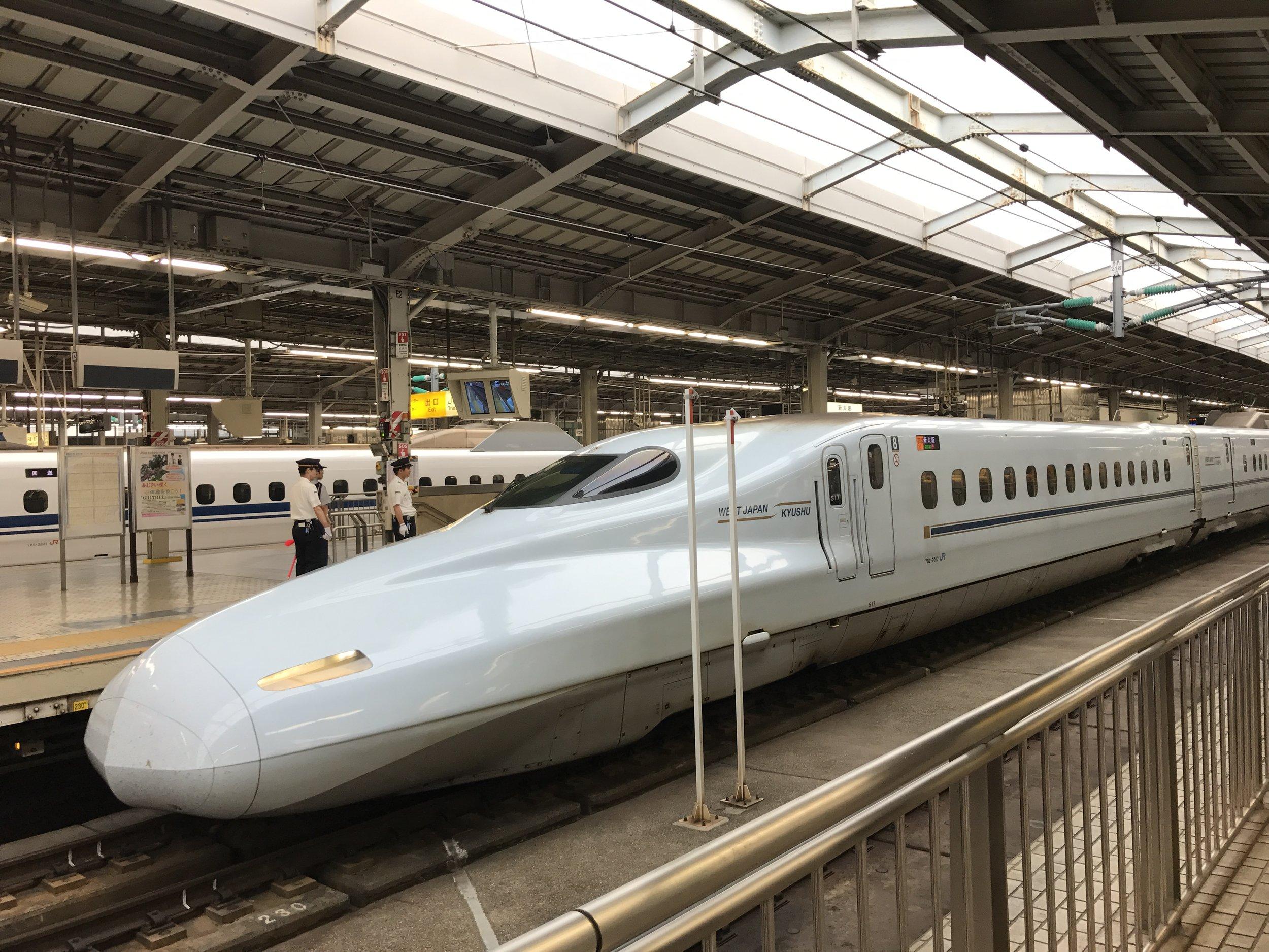 Bullet train in Osaka station