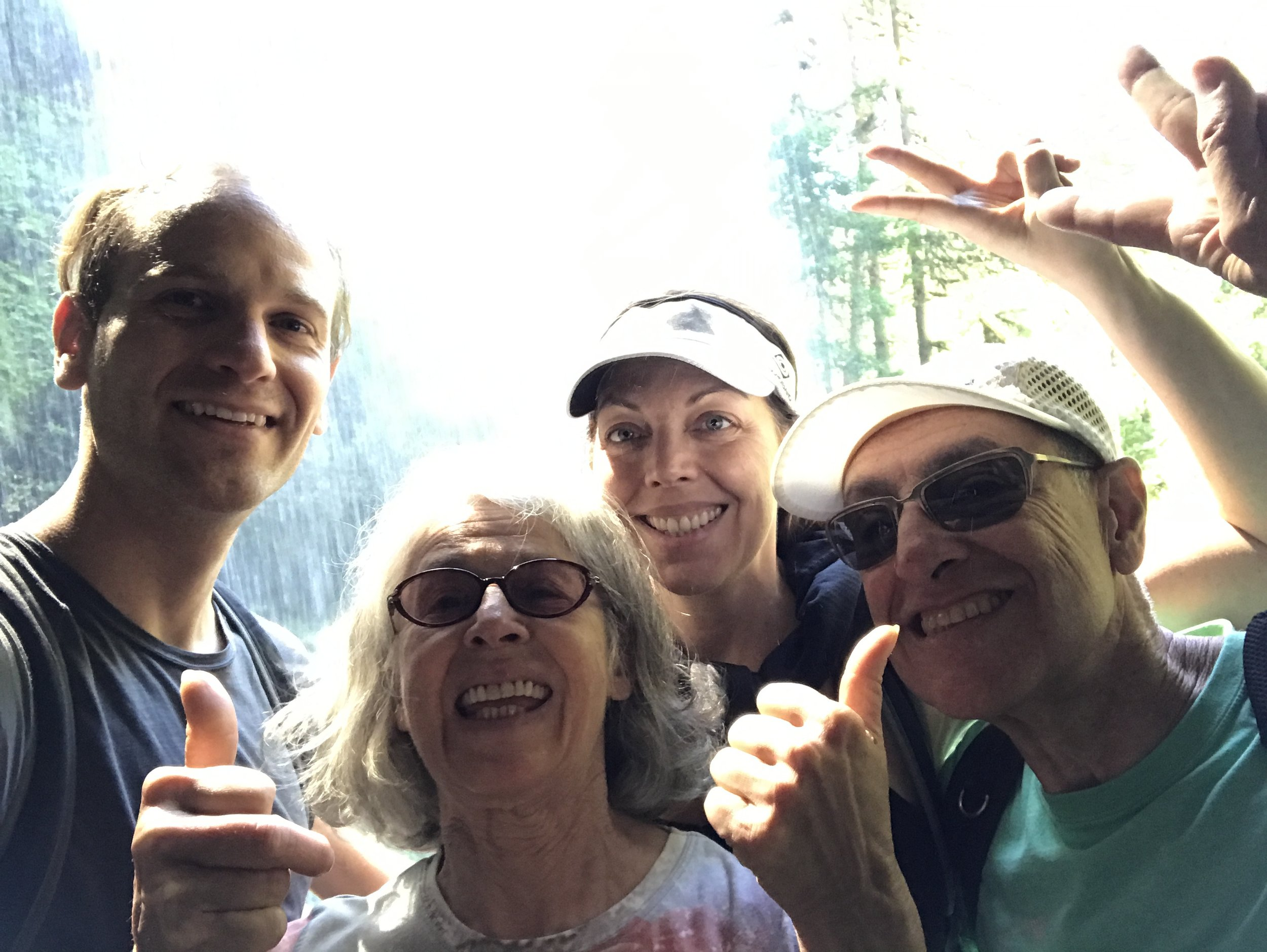Hiking Silver Falls State Park with my aunt and uncle in Oregon.