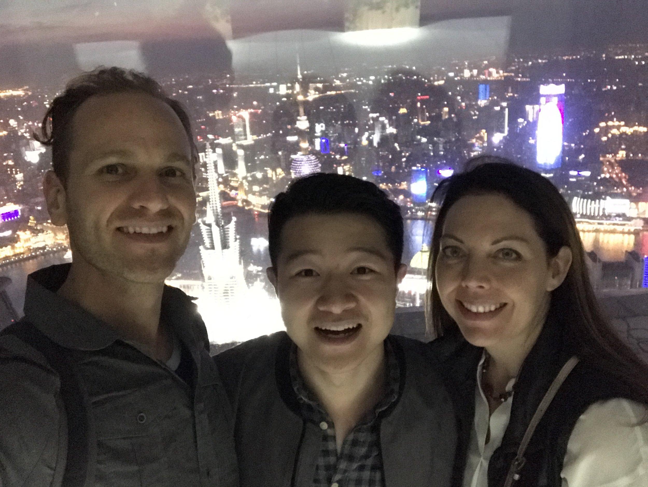 On the 103rd floor of Shanghai World Financial Center