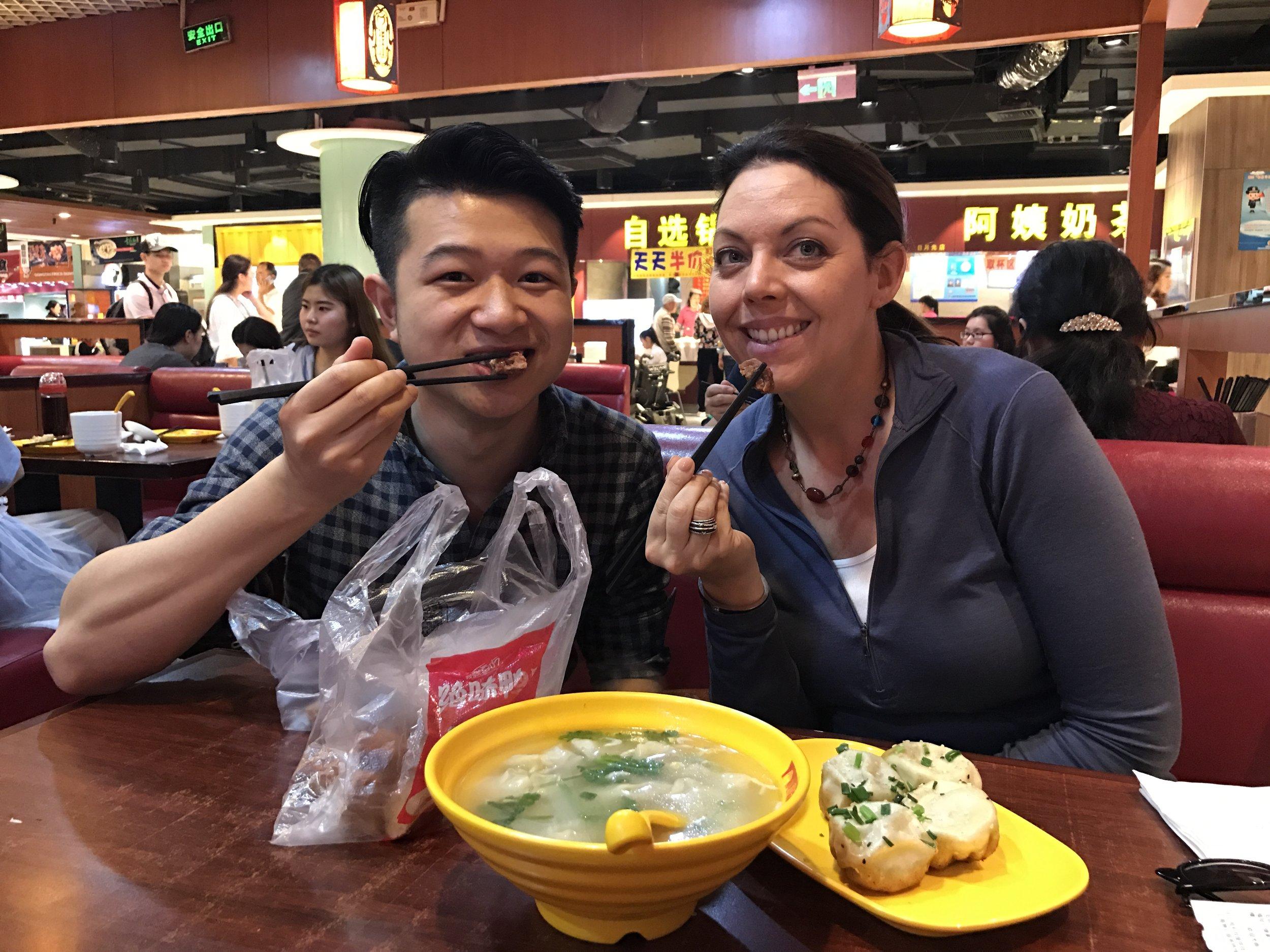 Yang's fried soup dumplings (sheng jian bao)