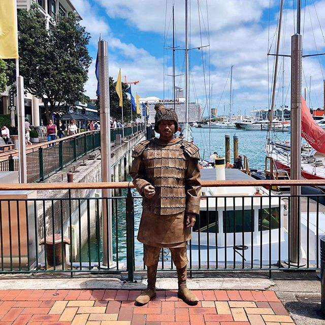 Beautiful day in Auckland for our #TerracottaWarrior to do some sightseeing. Exhibition opens on 15th December @te_papa See you there! #HistoryComesToLife #experiential