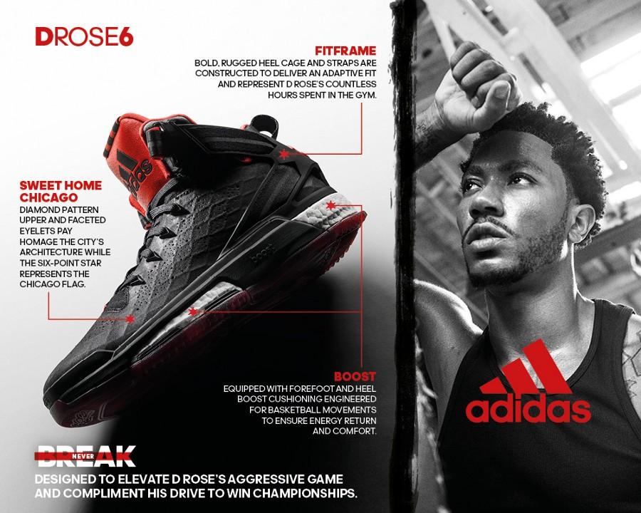 adidas d rose 6 technology