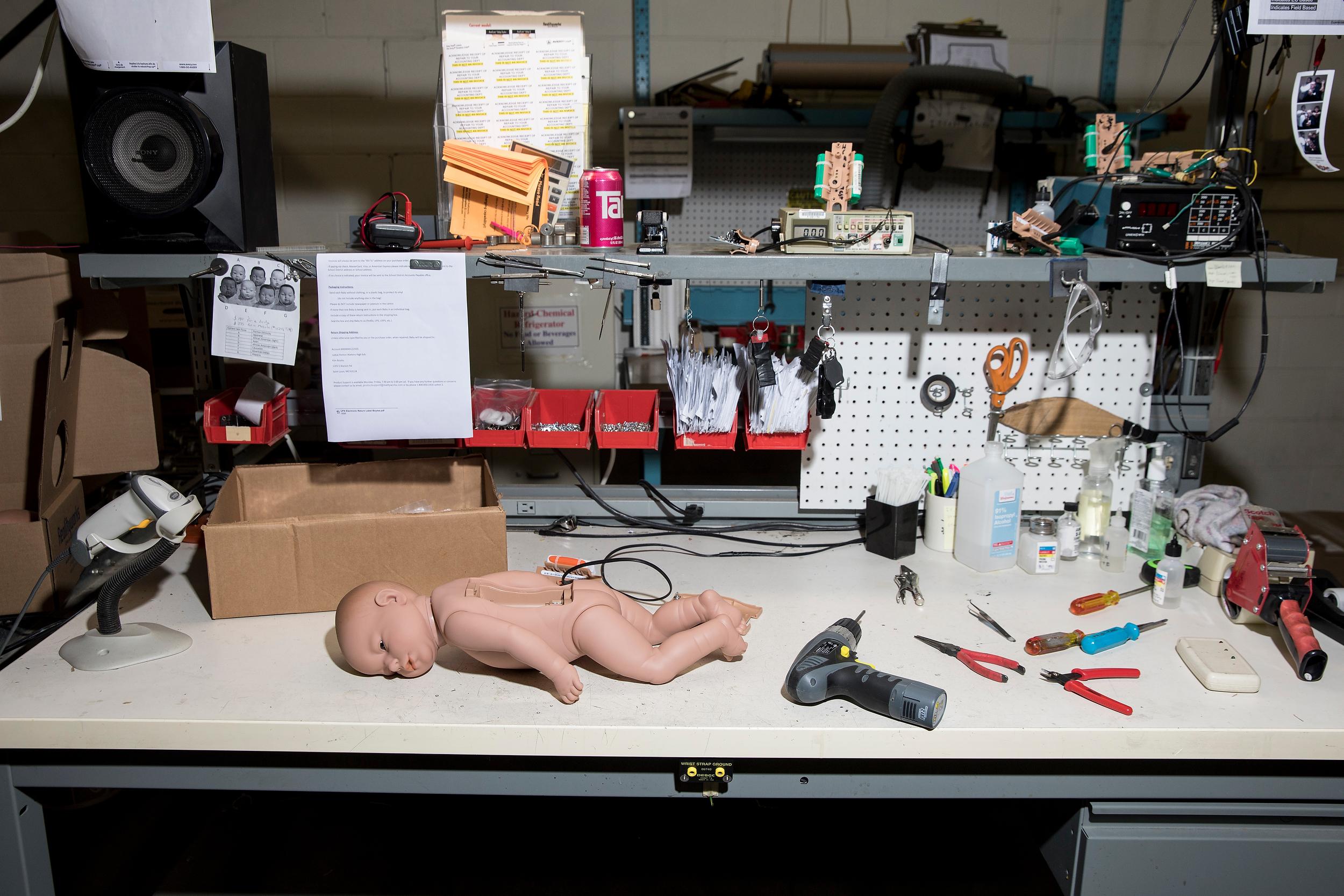 Robotic Babies for Bloomberg Businessweek
