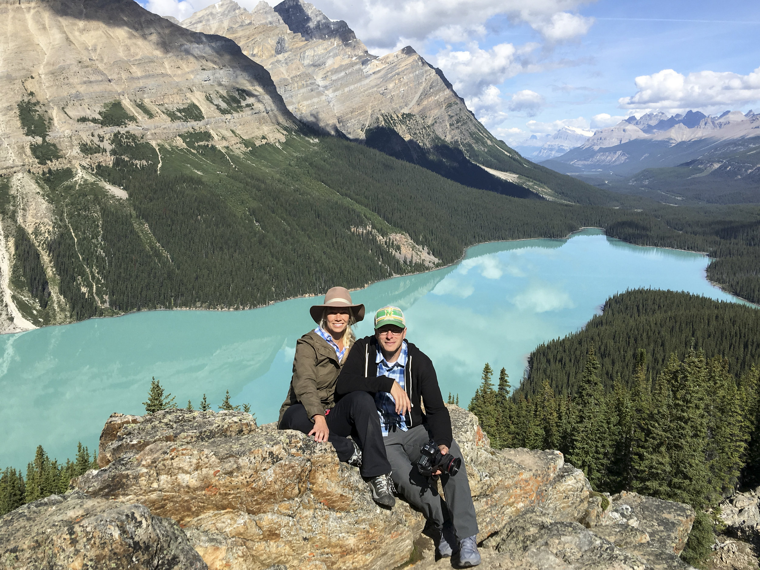 Jenn and Tim during their shoot in Banff for National Geographic Traveler.