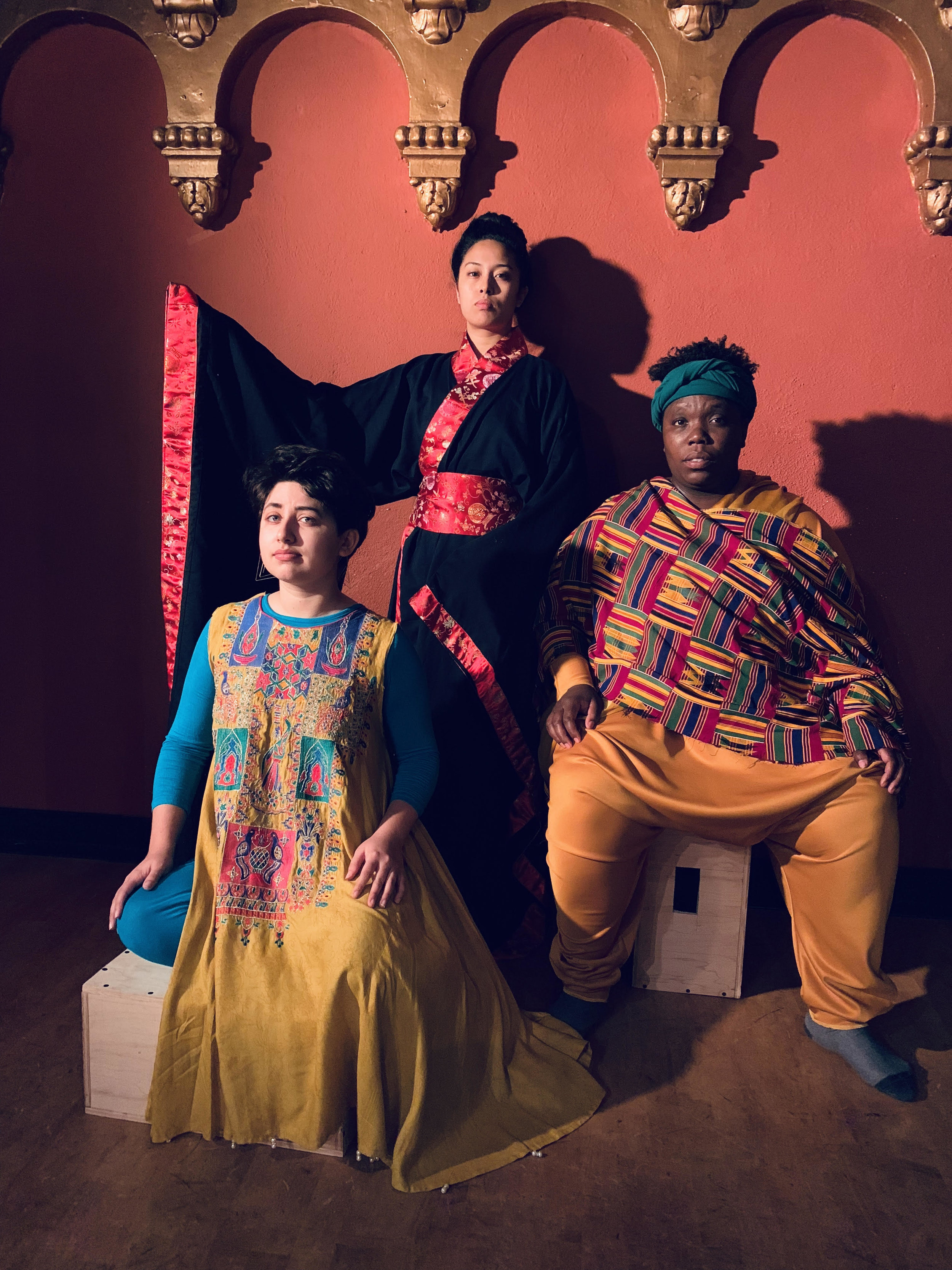 Linda Maria Giron, Isa Musni, & Mercedes White in One Googol and One at the Brava Dec 7-22