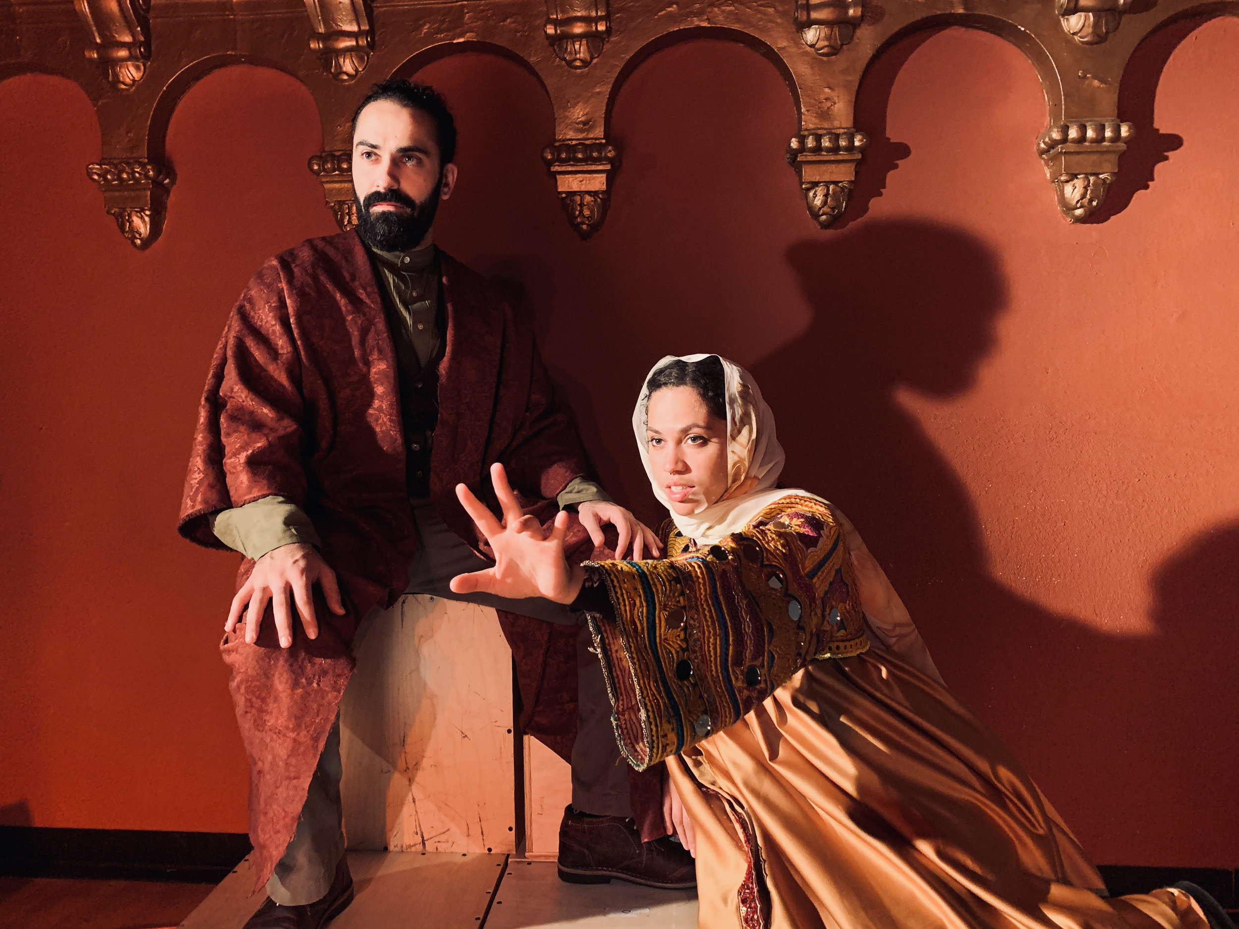 Emon Elboudwarej and Aidaa Peerzada in One Googol and One at the Brava Dec 7-22