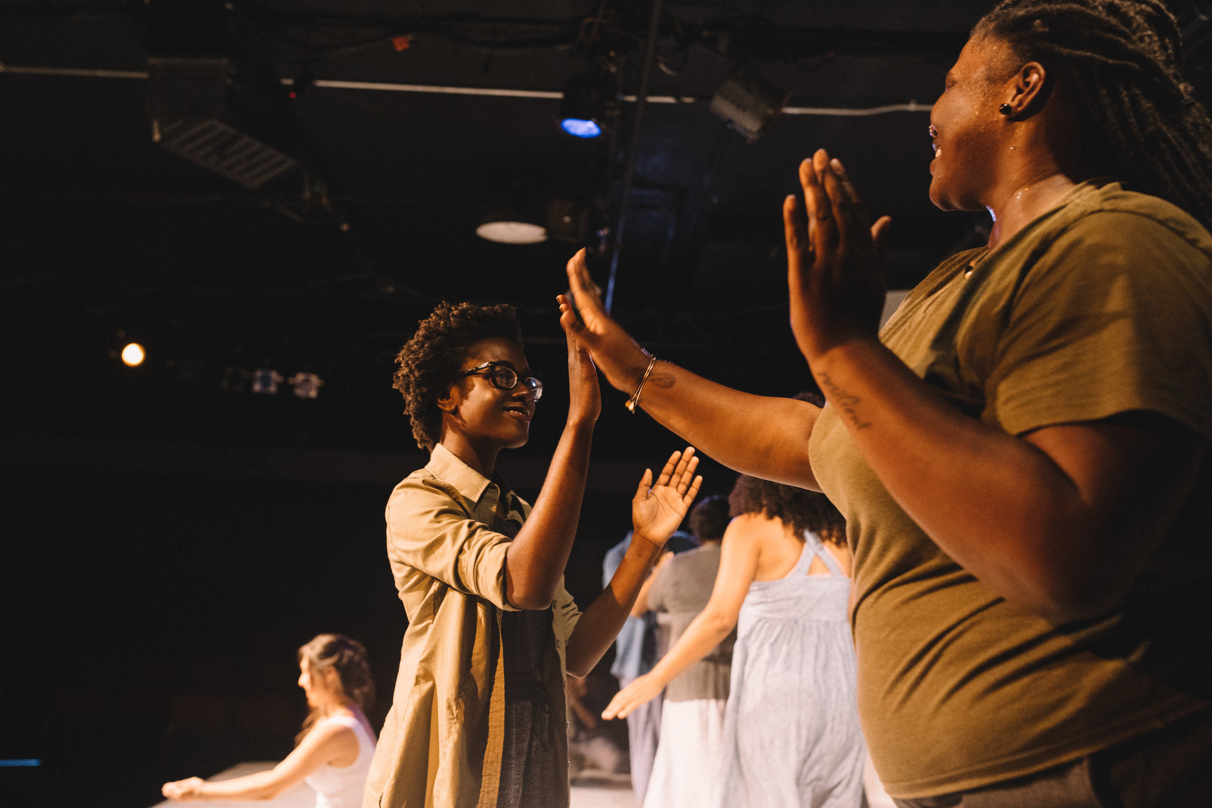 """Pictured : Esther Ajayi & Rolanda Bell in BATCO's production of """"I, Too, Sing America"""" @ Brava Theatre Feb 14 - 24; photo: Lorenz Angelo Gonzales"""