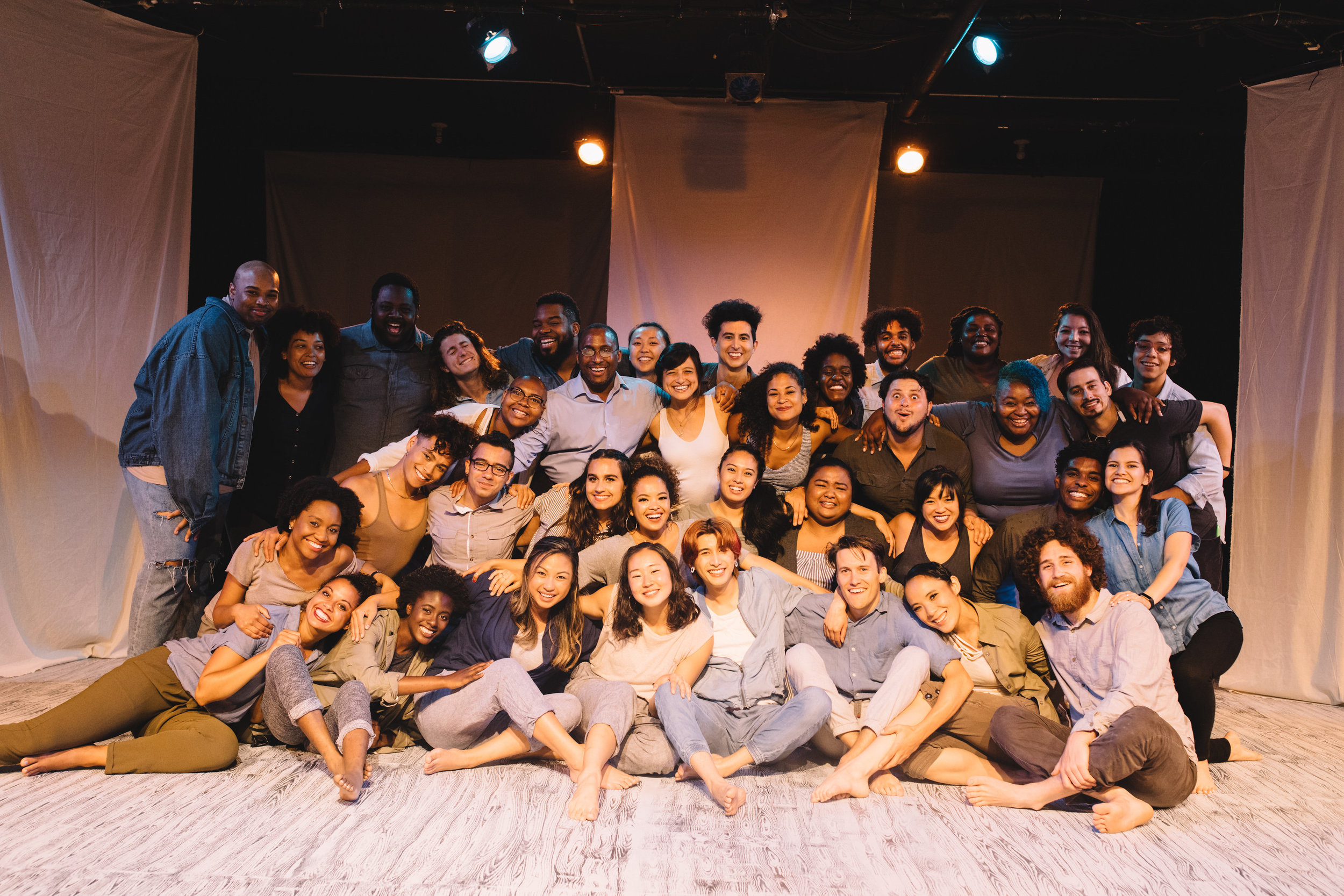 """Pictured : Full Company of BATCO's production of """"I, Too, Sing America"""" @ Brava Theatre Feb 14 - 24; photo: Lorenz Angelo Gonzales"""