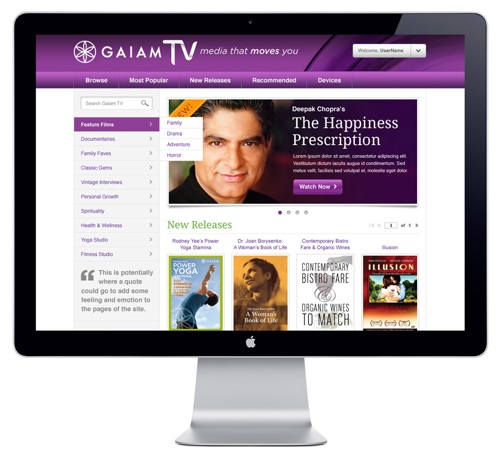 GaiamTV Website