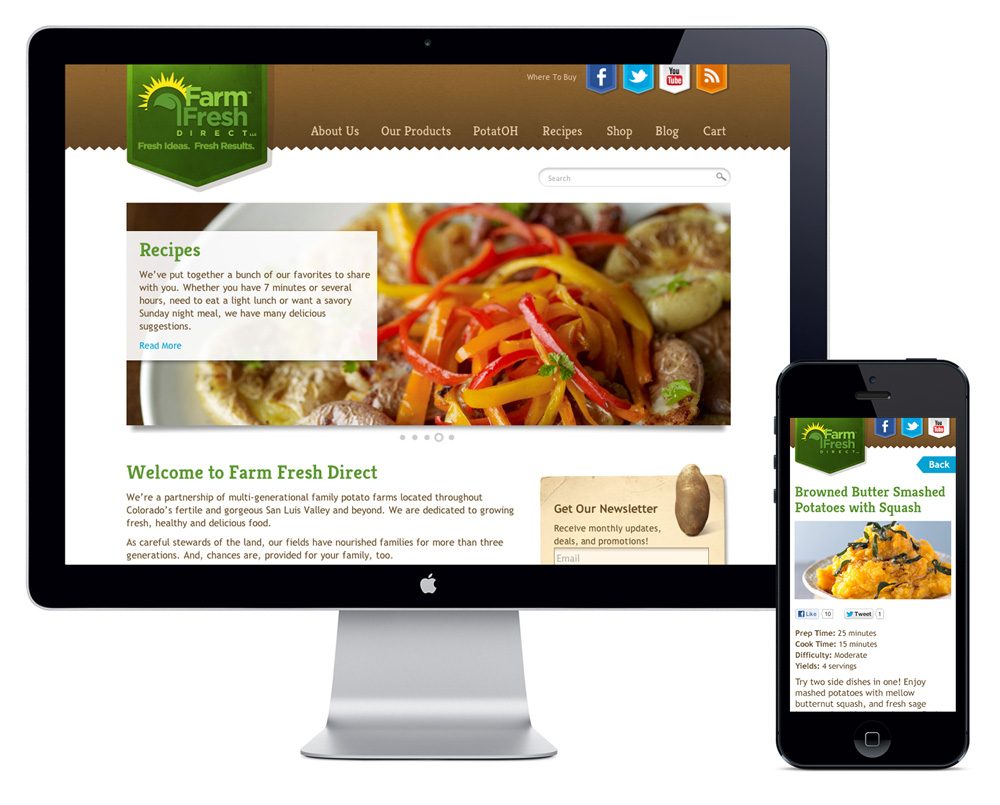 Farm Fresh Direct Responsive Website