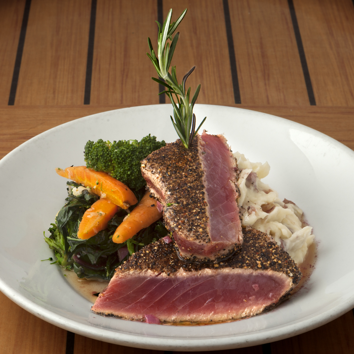 Seared Tuna Steak with Farm Raised Vegtables