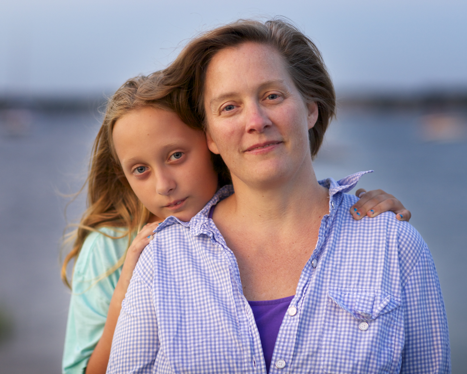 Mother & Daughter Portrait at sunset