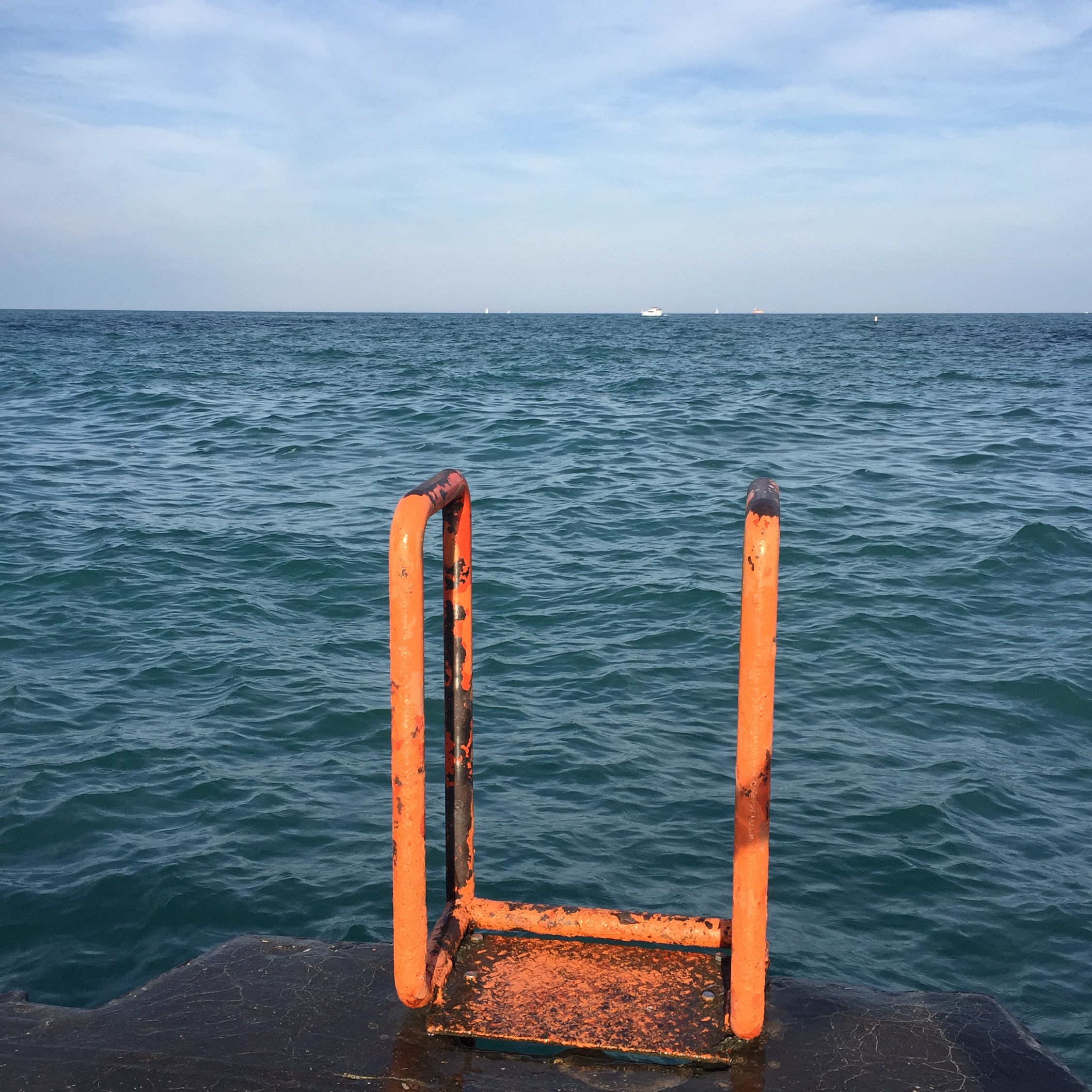Ladder to Lake Michigan