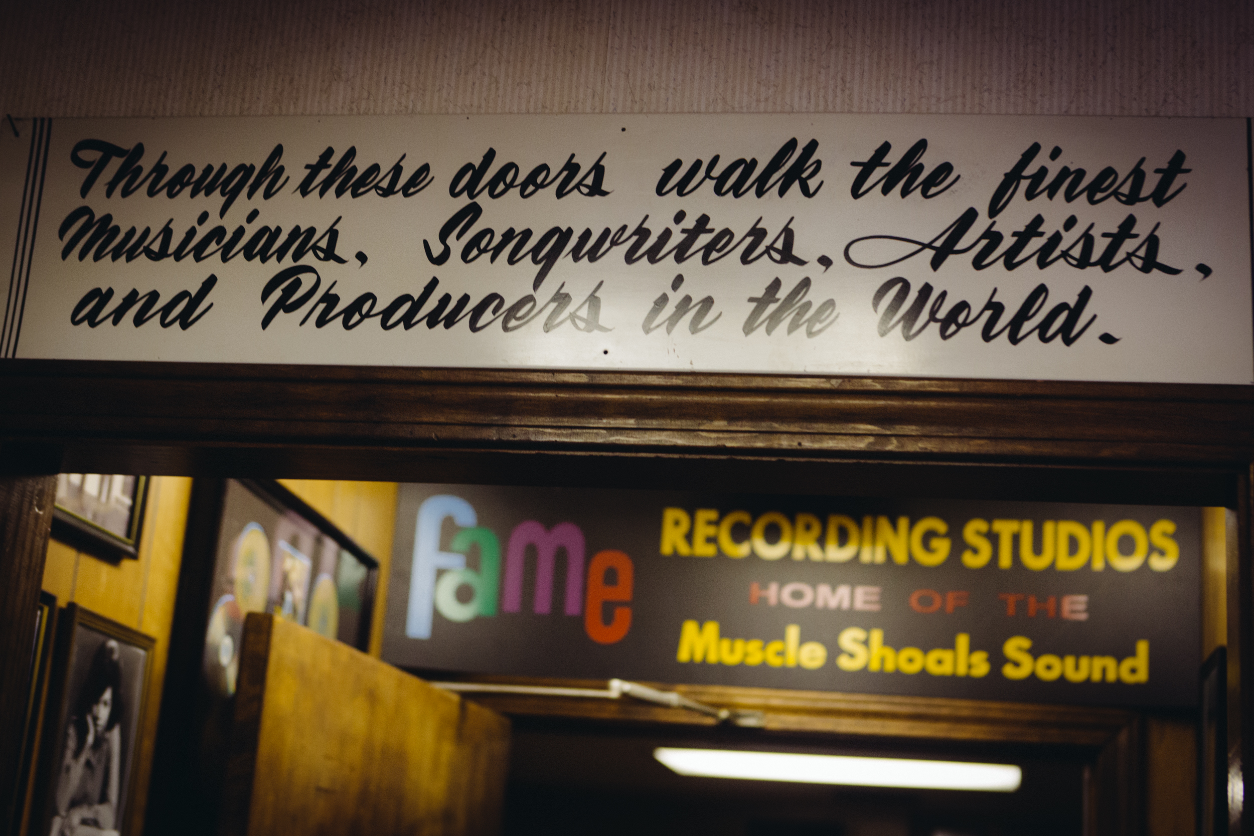 Sign at Fame Recording Studio