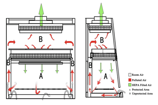 Figure 14: A schematic of a standard biosafety cabinet used in cell culture.