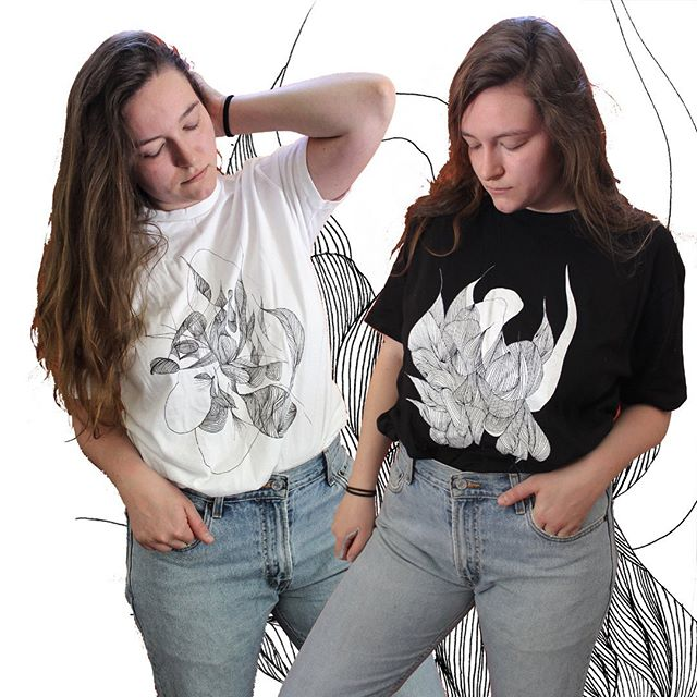 Ooookay I'm so excited about these!! Two new 'opposi-tees' are ready for ya!! Loved playing with light and dark here. Both designs feature the intricate line drawings that have been filling up my workspace lately. If you just can't decide which one you would want and would like both, there's a discount, since they go so well together and I want you to have em both. Link in bio to preorder! 🖤🌓 . . . #abstractart #abstractdrawing #workspace #artstudio #handmade #illustration #illustrator #contemporaryart #wearableart #screenprinting #graphictee #sustainablefashion #upstateny #hudsonvalley